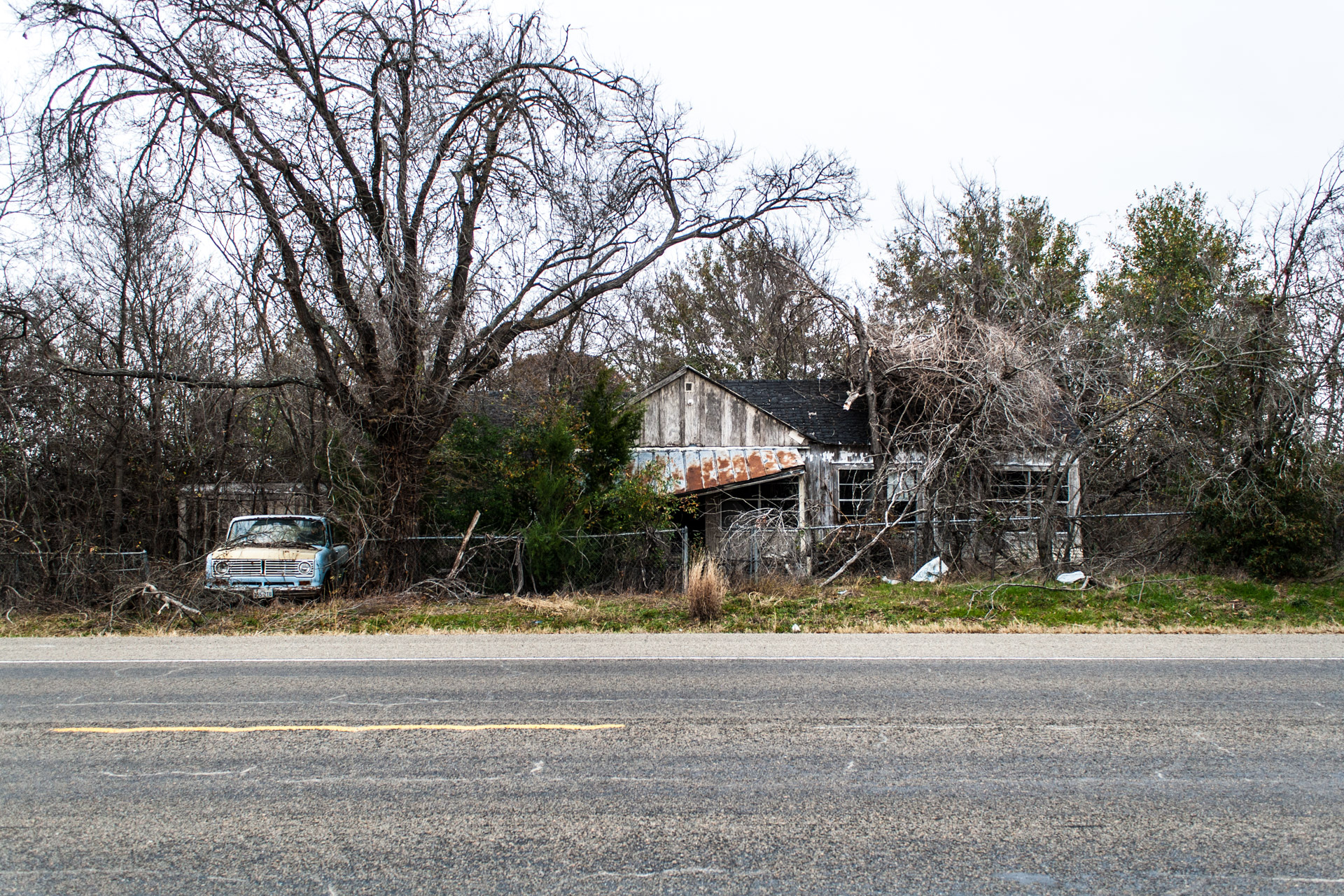 Reagan, Texas - A Branchy House and Truck (front far)