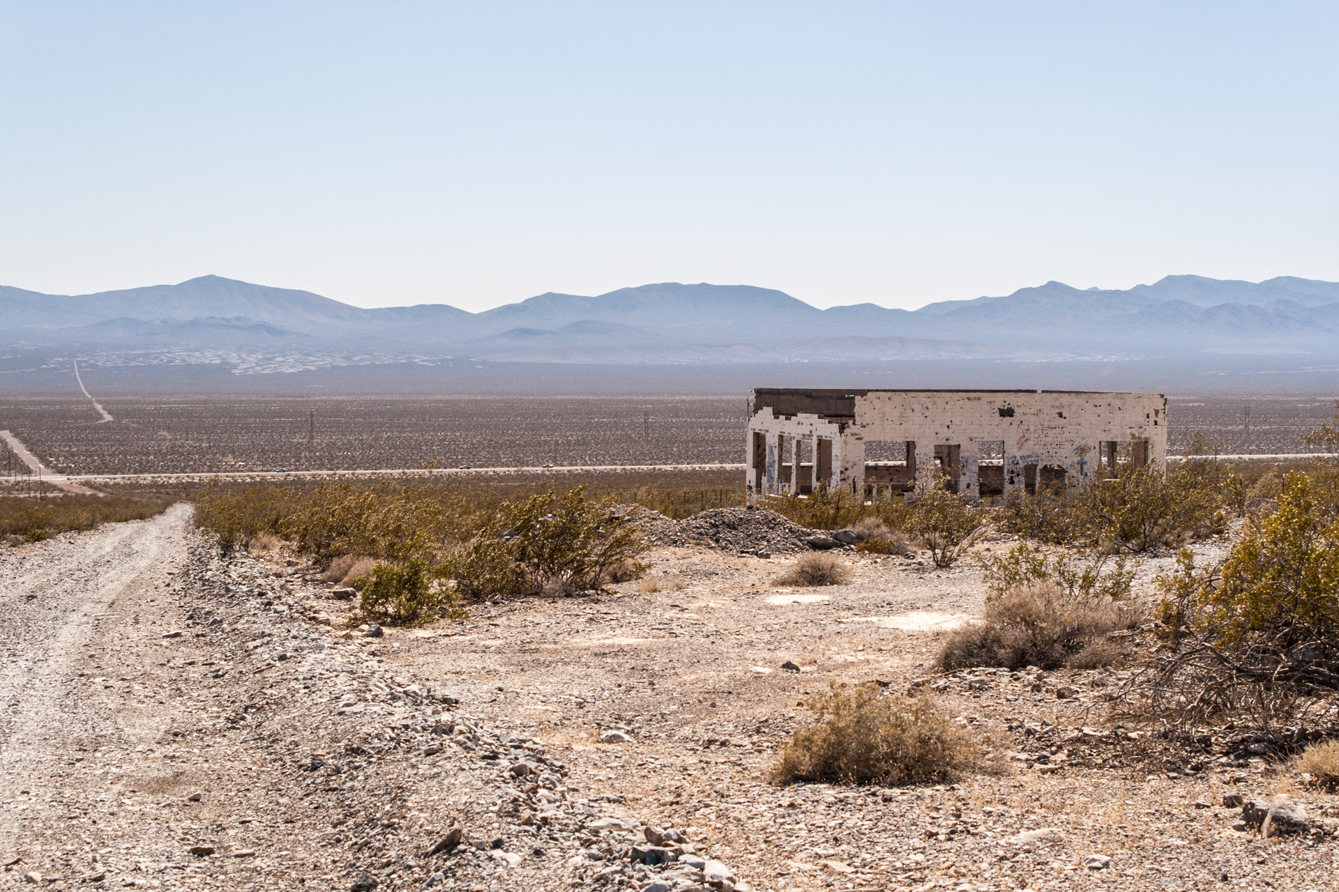 Beatty, Nevada - A Collage Of Desert Ruins