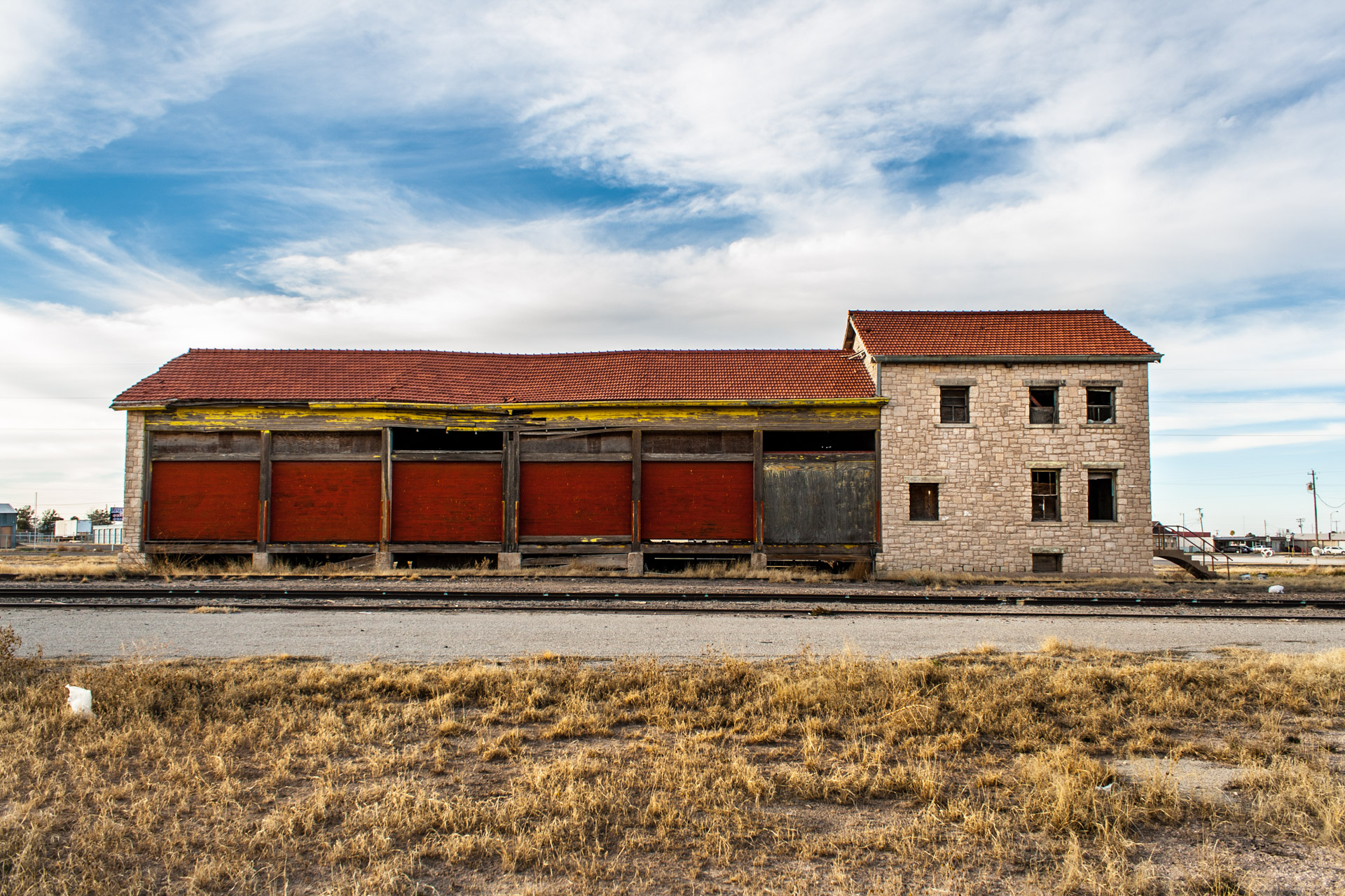 Fort Stockton, Texas - A Colorful Train Depot (back far)