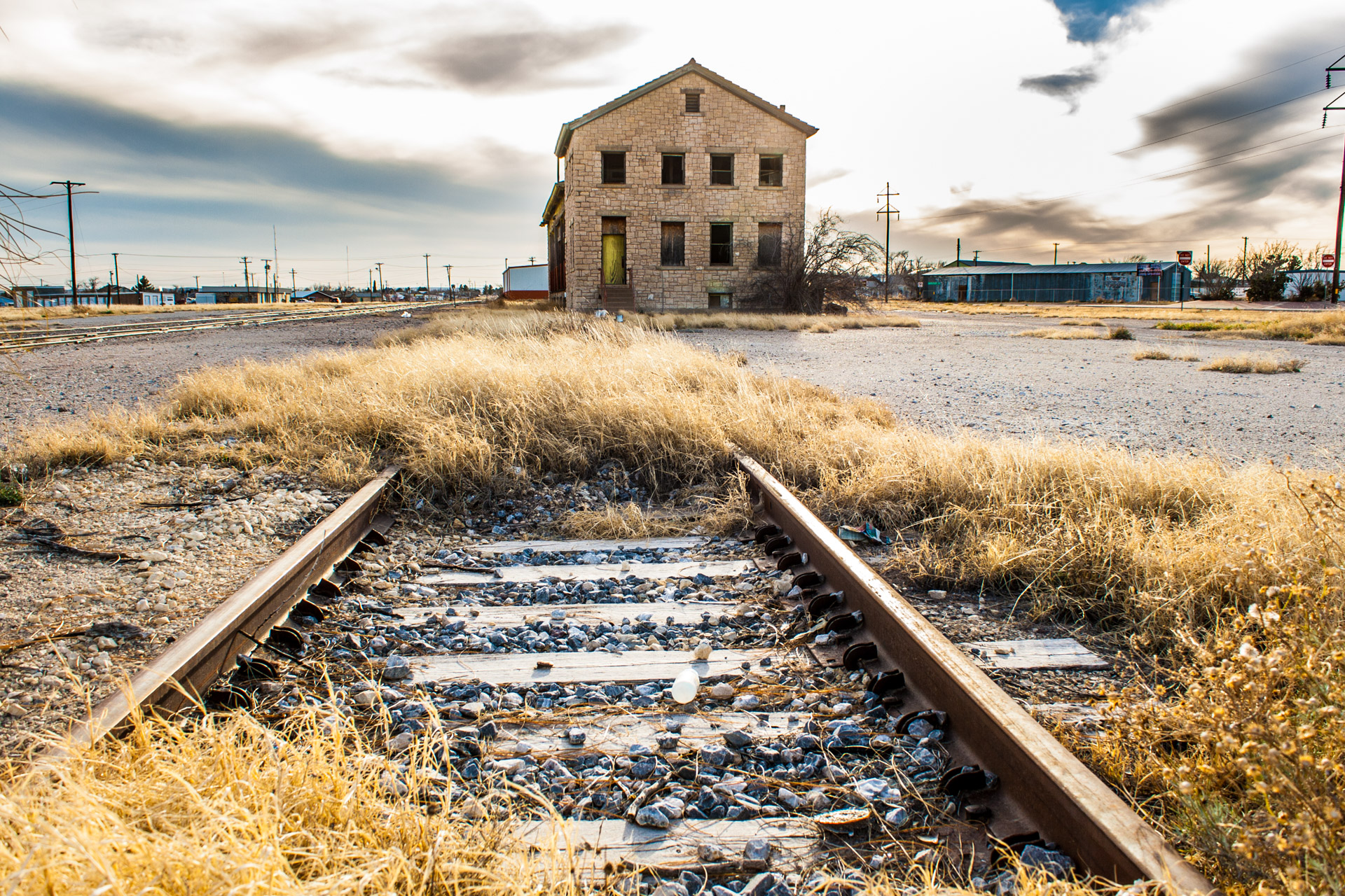 Fort Stockton, Texas - A Colorful Train Depot (tracks)