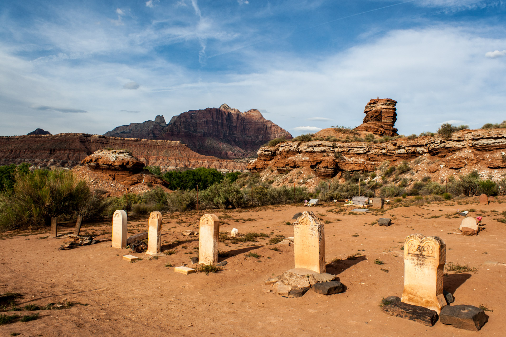 A Desert Ghost Town Cemetery (left close)