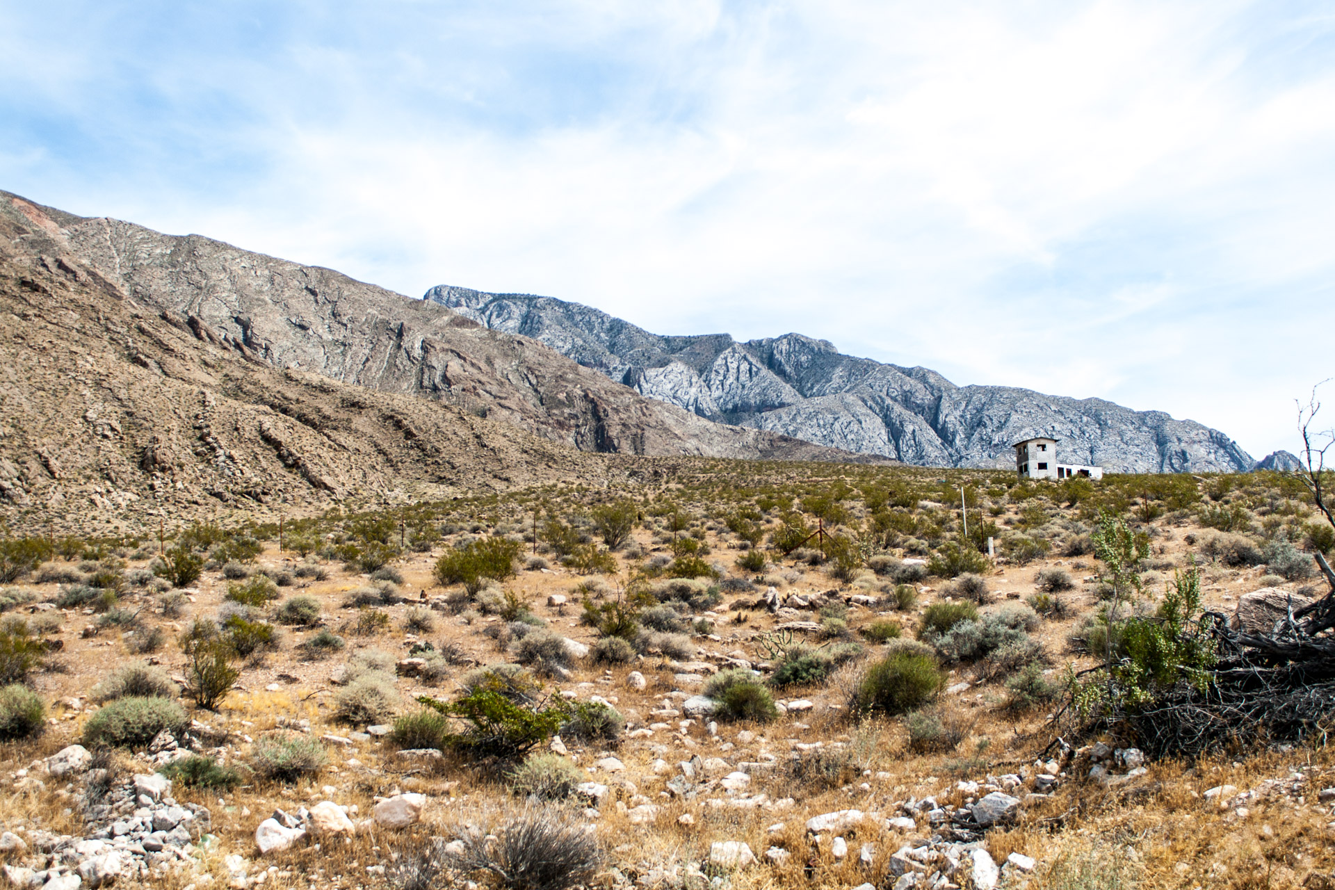 A Lonely Desert Mountain House (angle far right)