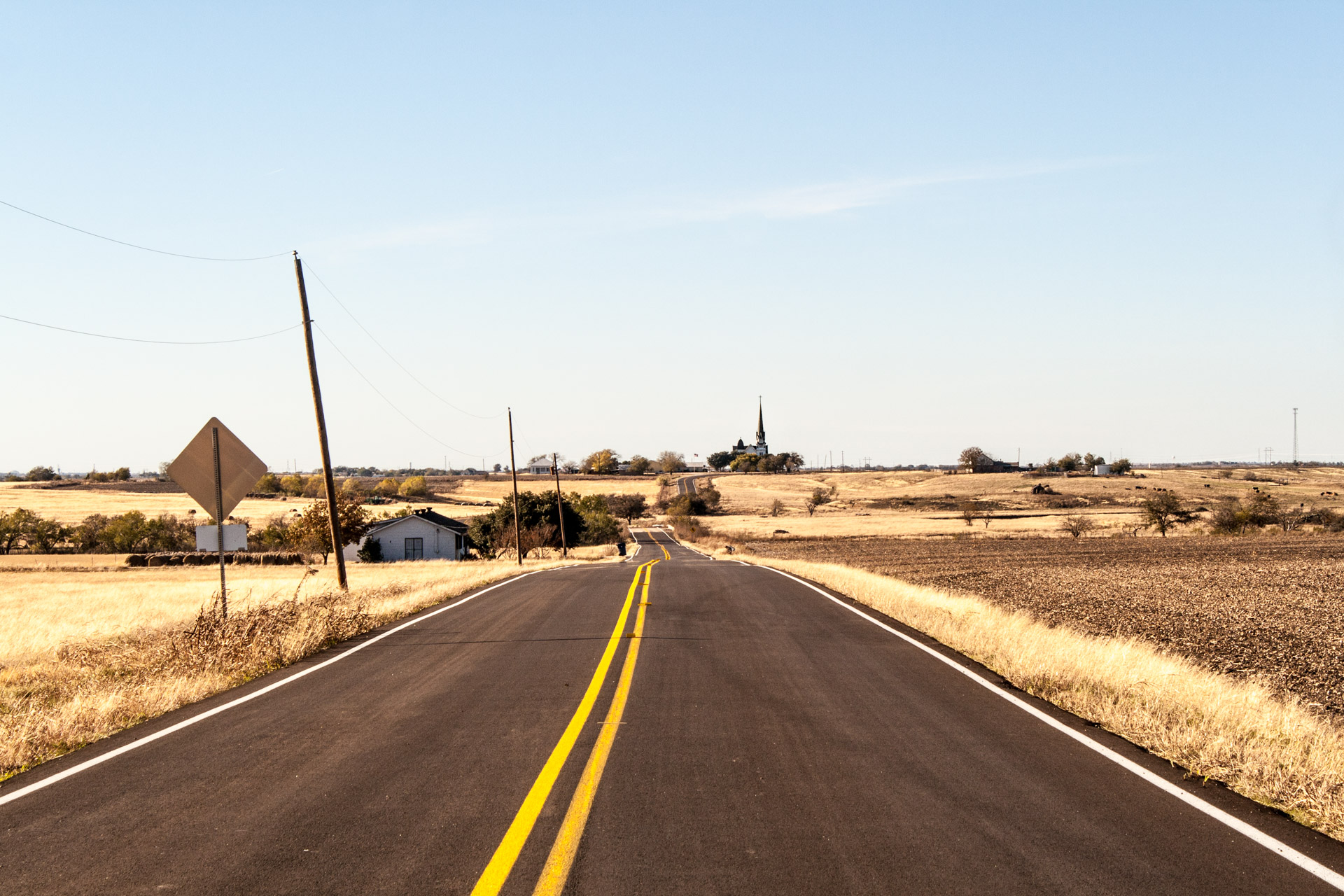 Manor, Texas - A Road to the New Sweden Evangelical Lutheran Church