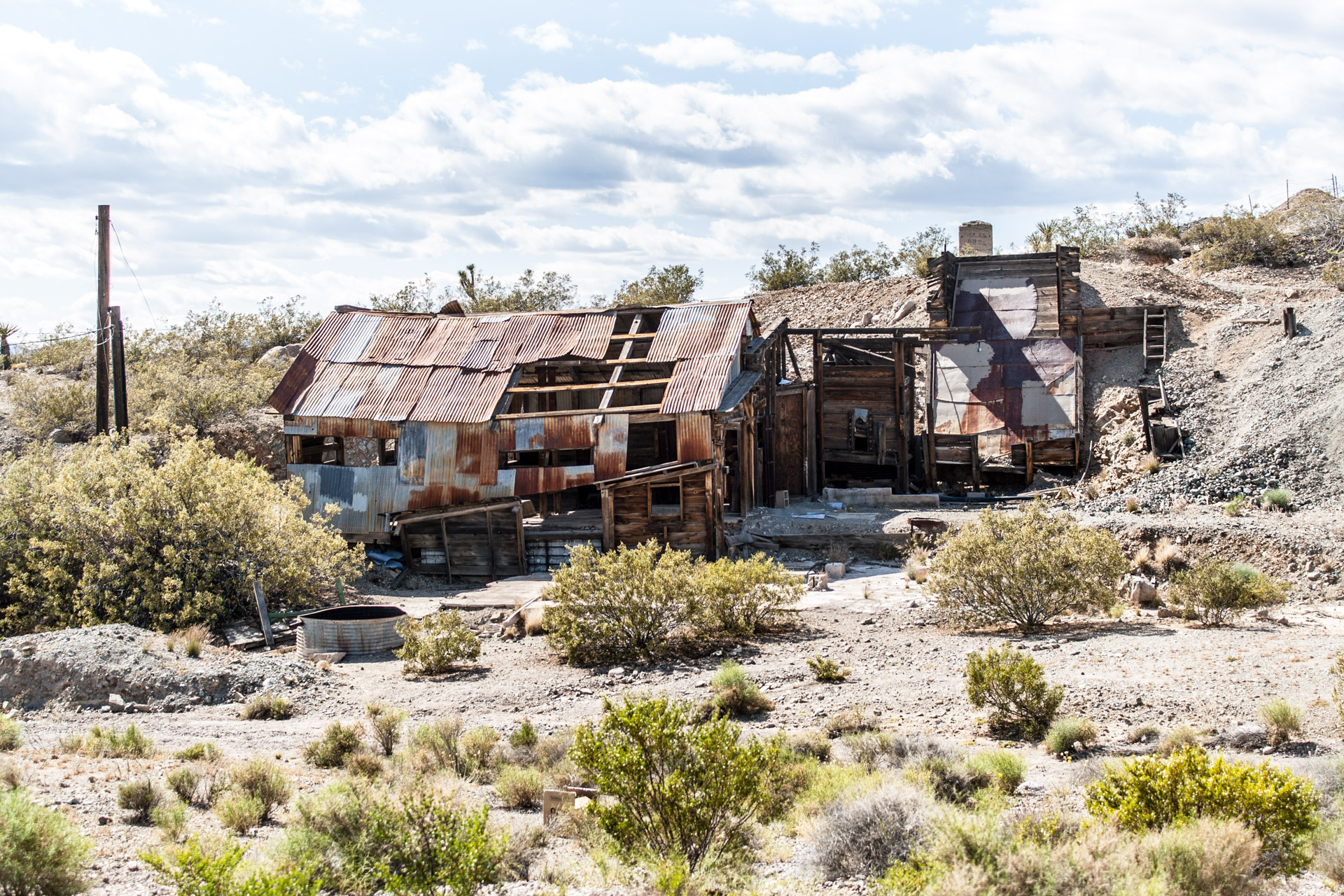 Searchlight, Nevada - A Ruined Mine