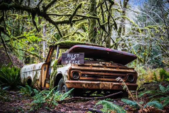 Olympic National Park, Washington - A Rusty Forest Truck