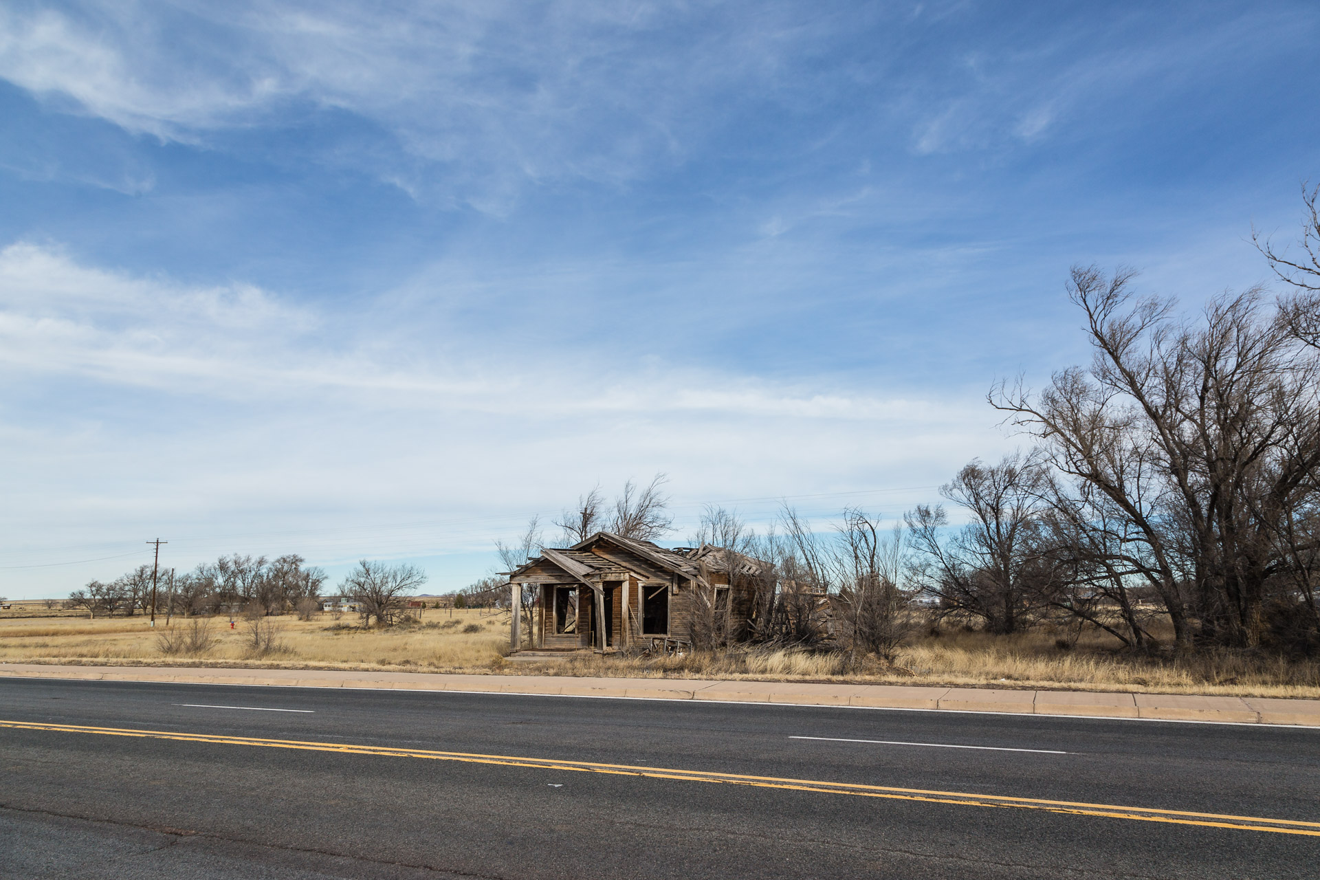 Encino, New Mexico - A Simple Wood House