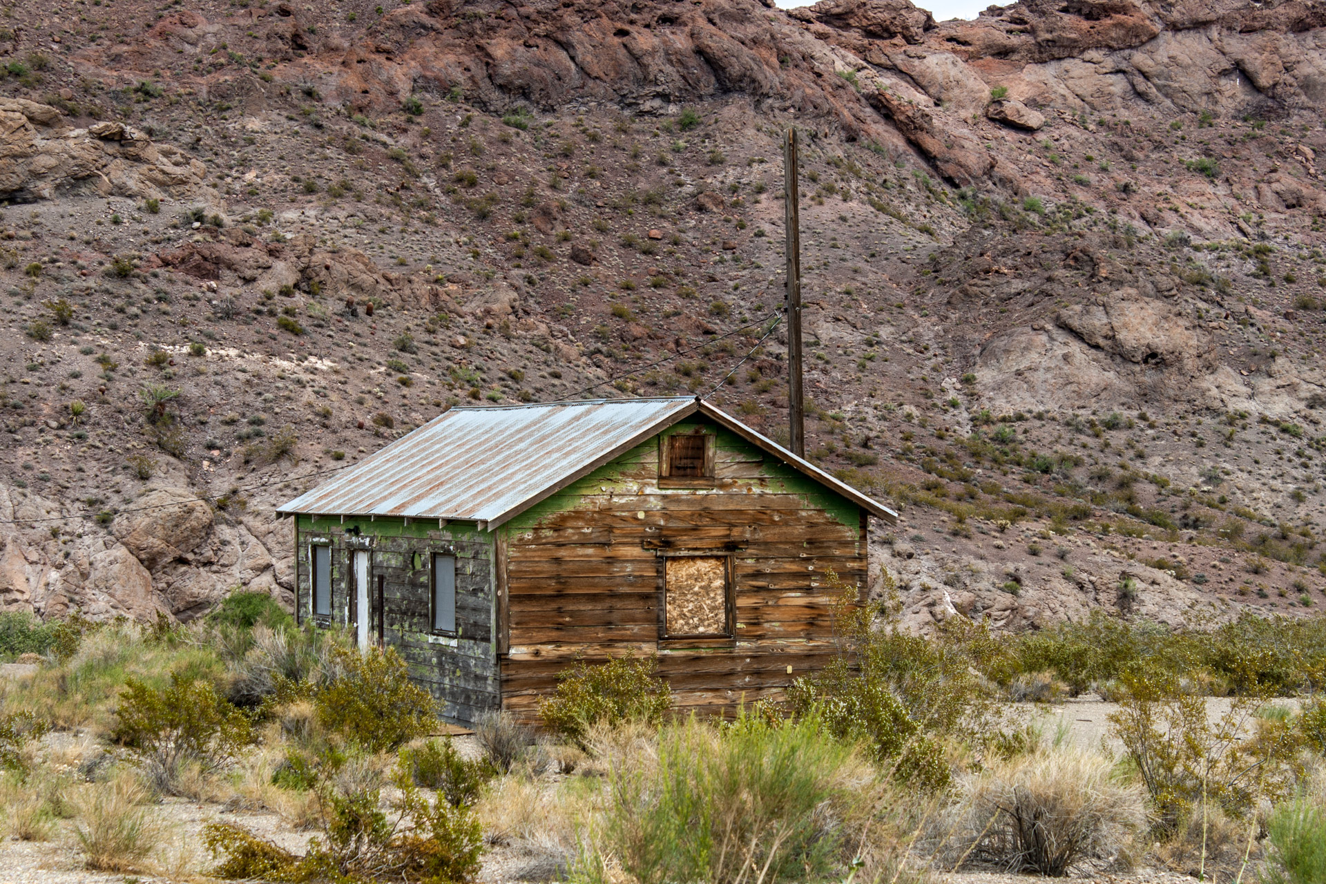 Nelson, Nevada - A Weathered Mining Town House (close)