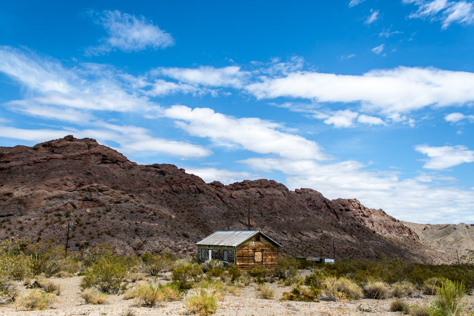 Nelson, Nevada - A Weathered Mining Town House (far)