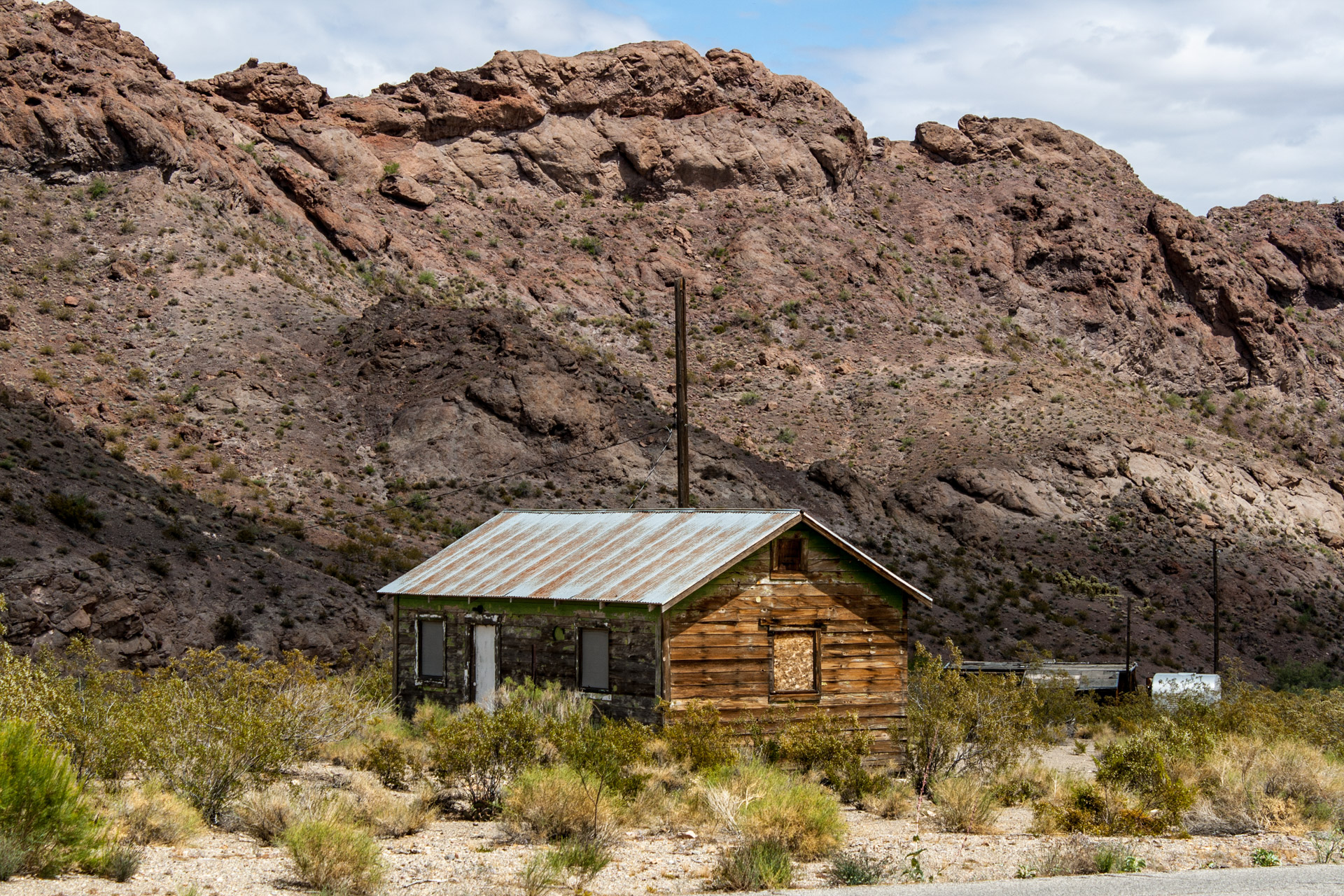 Nelson, Nevada - A Weathered Mining Town House (mid)
