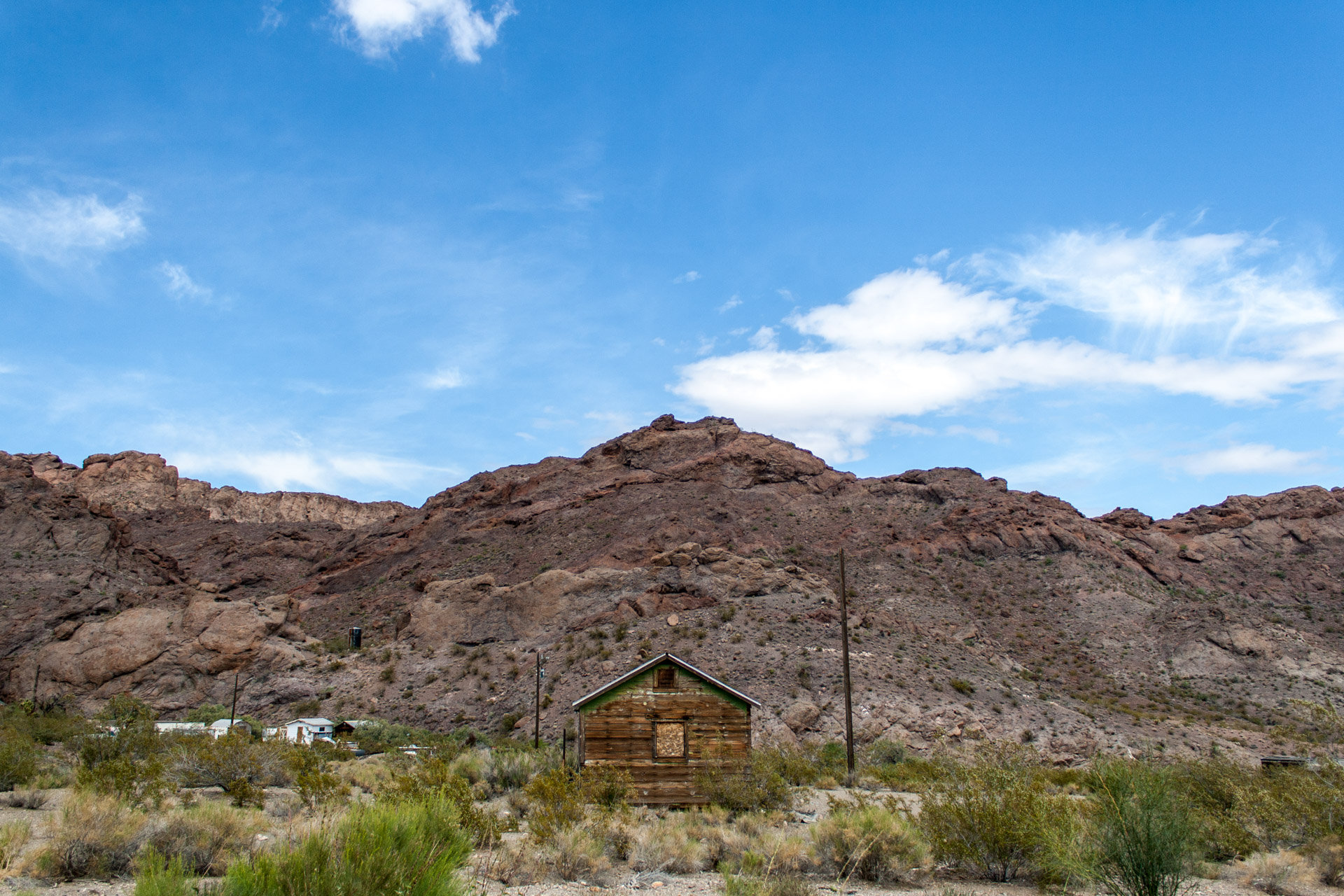 Nelson, Nevada - A Weathered Mining Town House (straight far)