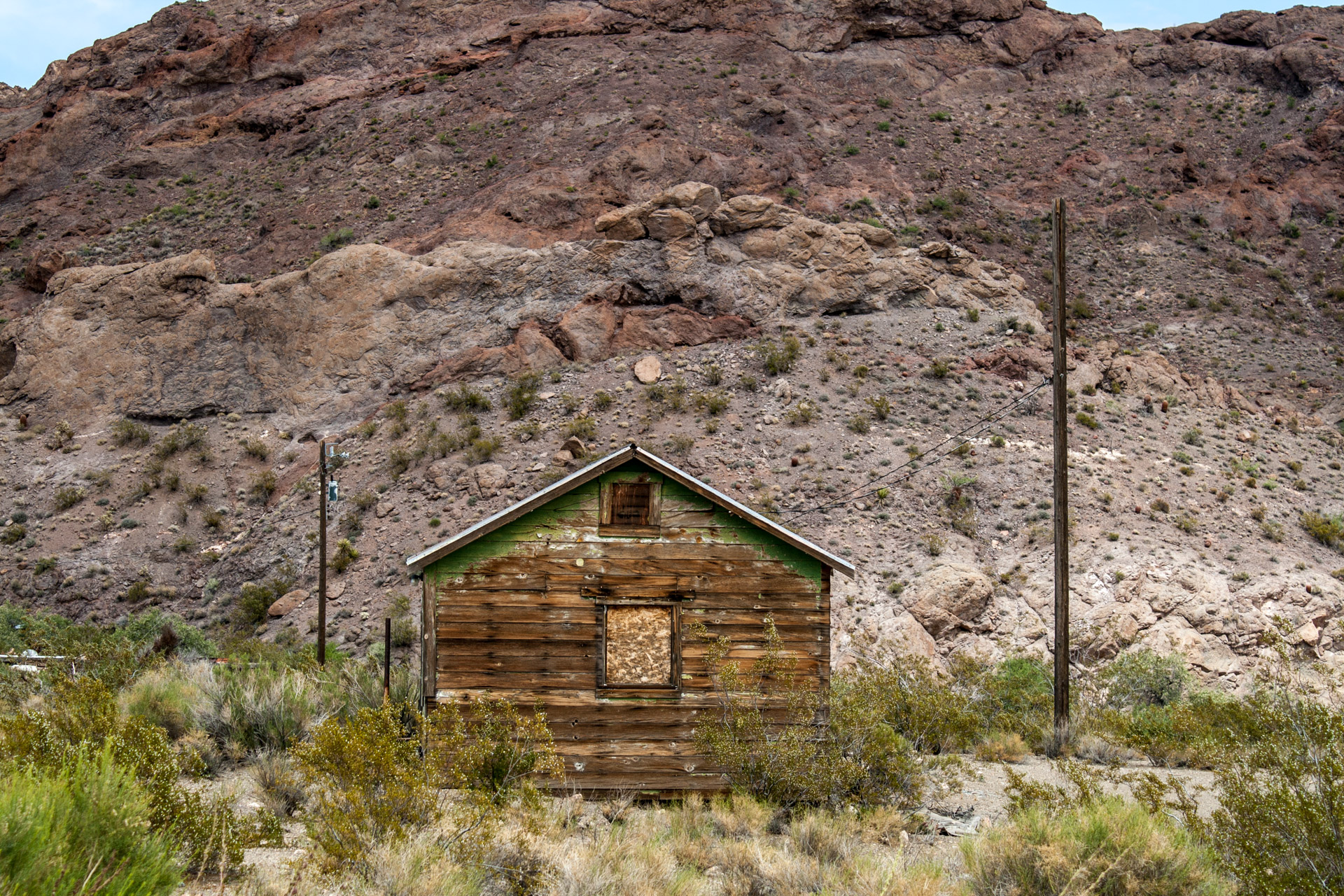 Nelson, Nevada - A Weathered Mining Town House (straight mid)