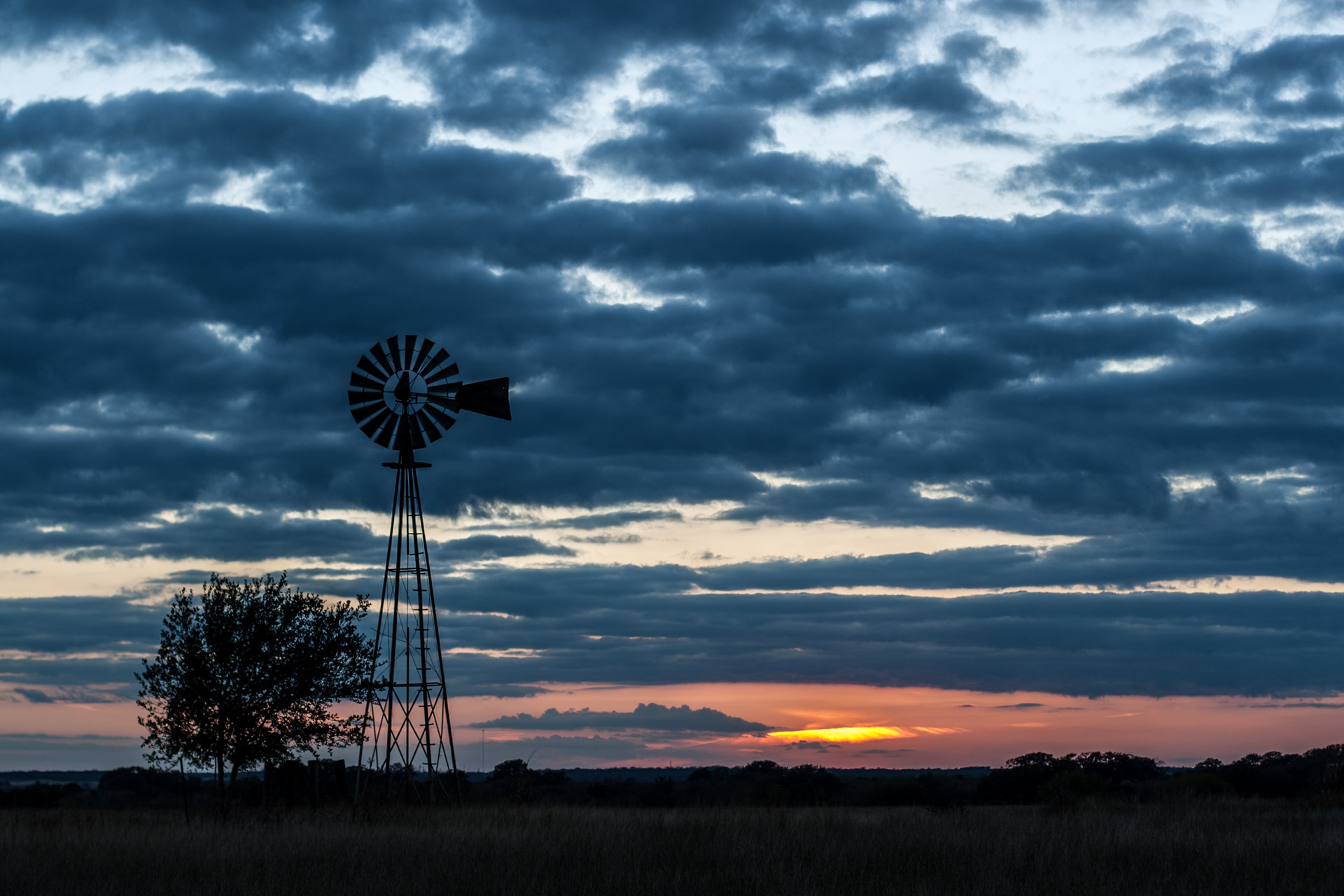 After Sunset Windmill