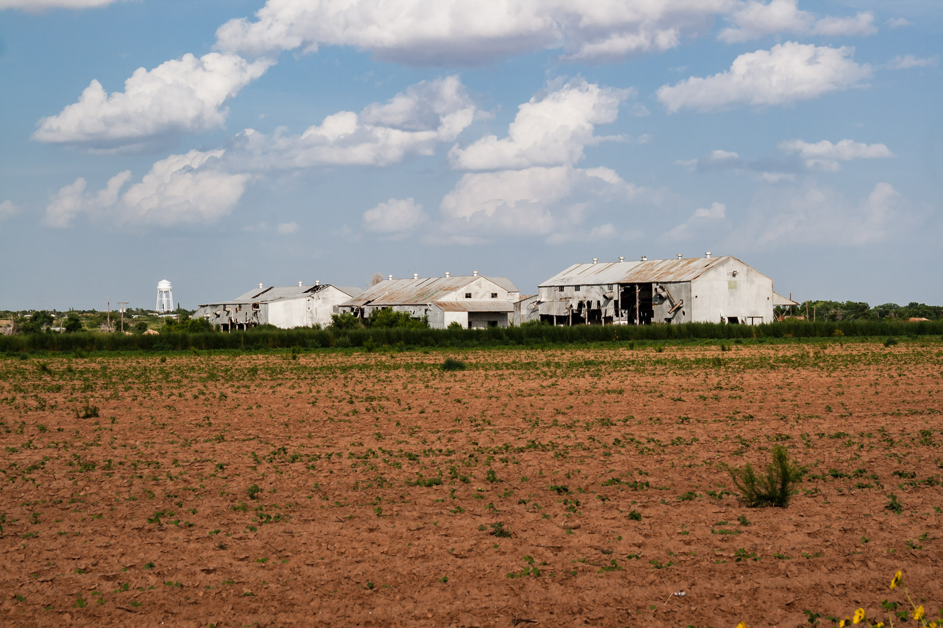 An Empty Cotton Gin (right angle)