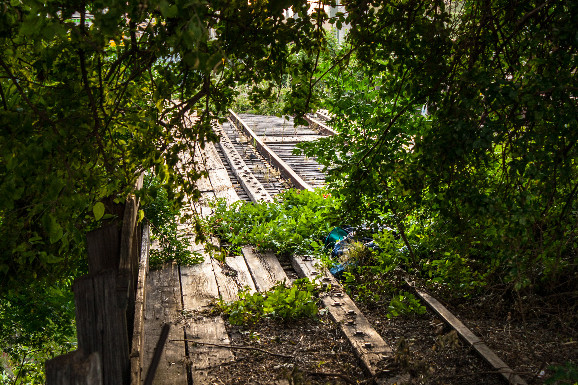 An Old Downtown Austin Railroad Bridge (back angle)