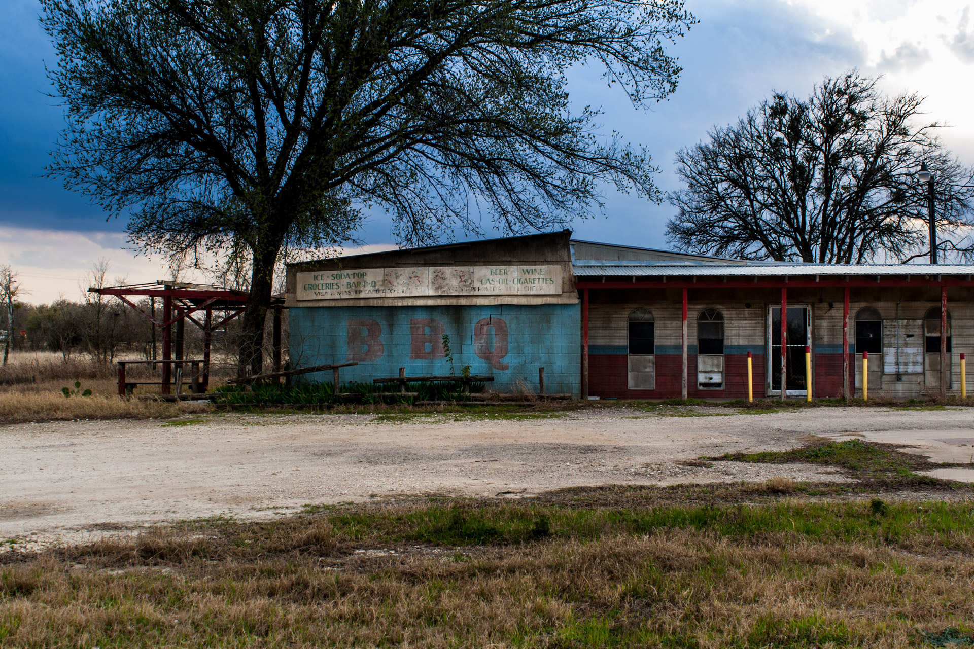 Elgin, Texas - BBQ And Gas Station (front left)