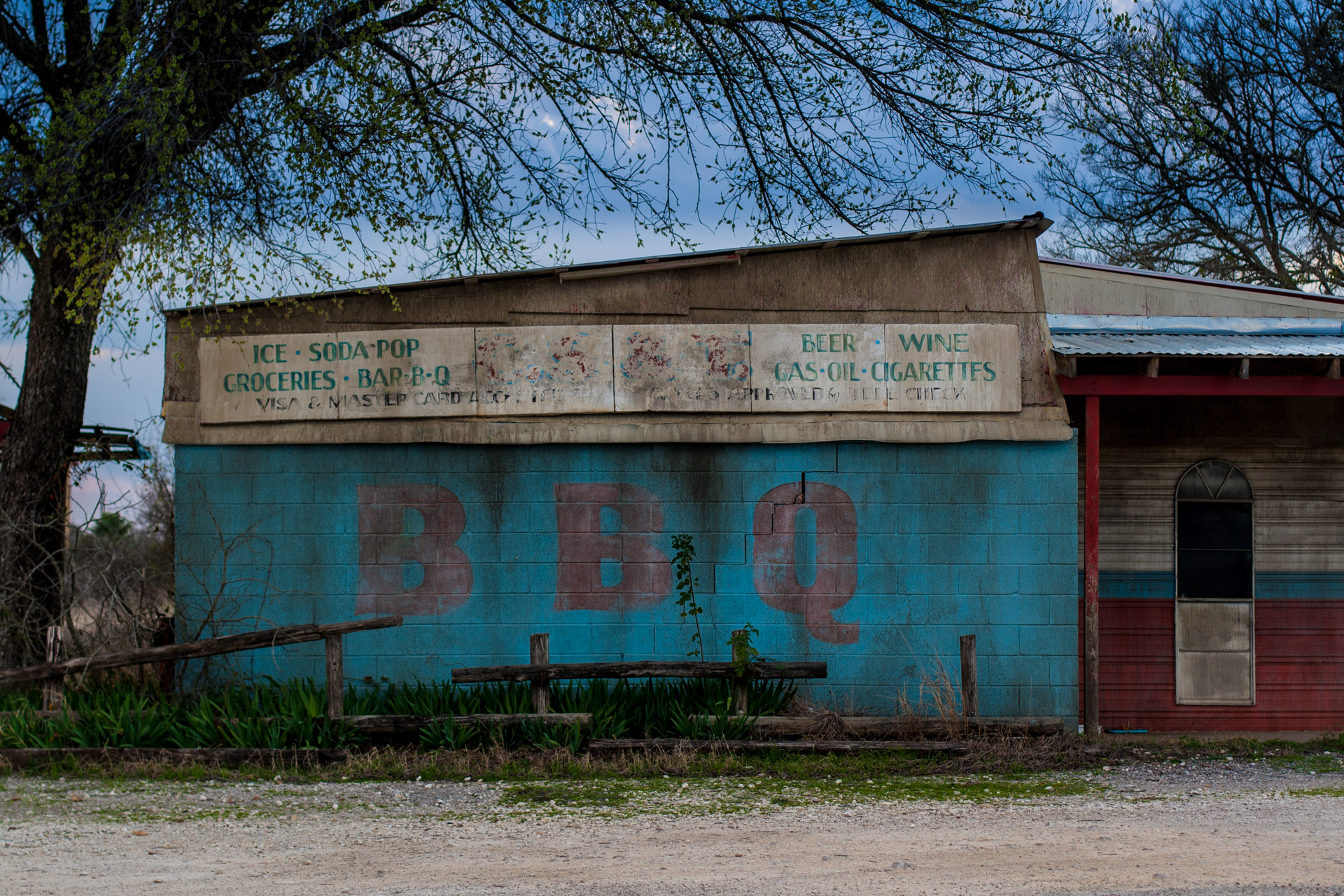 Elgin, Texas - BBQ And Gas Station (front sign)