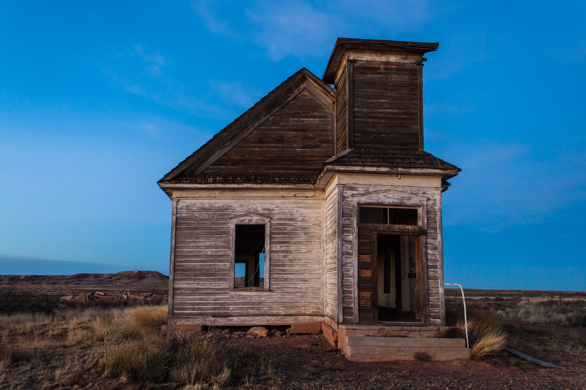 Taiban, New Mexico - Church At Sunset (front)