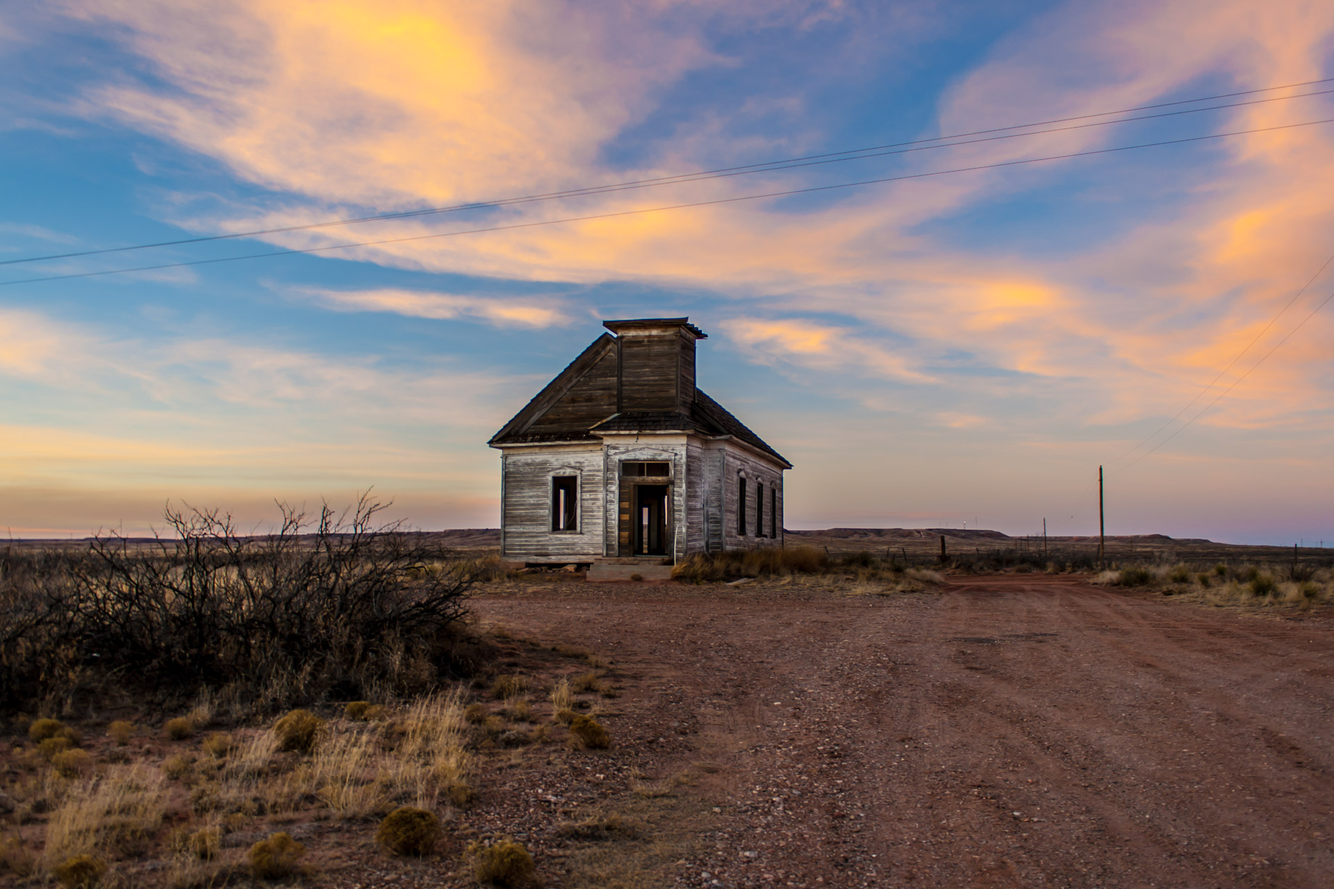 Taiban, New Mexico - Church At Sunset (front far)