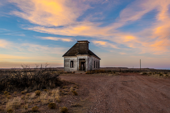Taiban, New Mexico - Church At Sunset