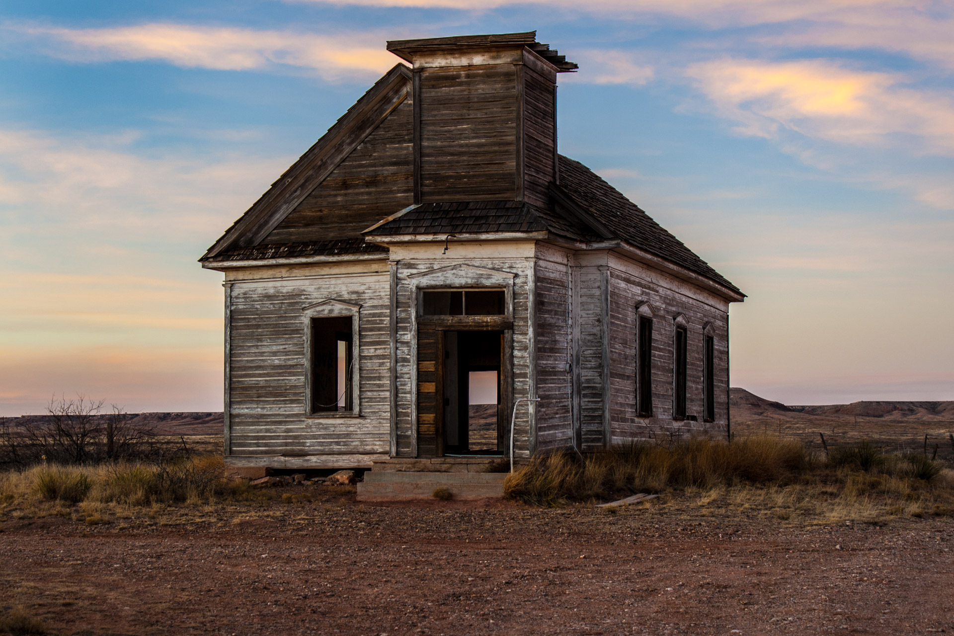 Taiban, New Mexico - Church At Sunset (front mid)