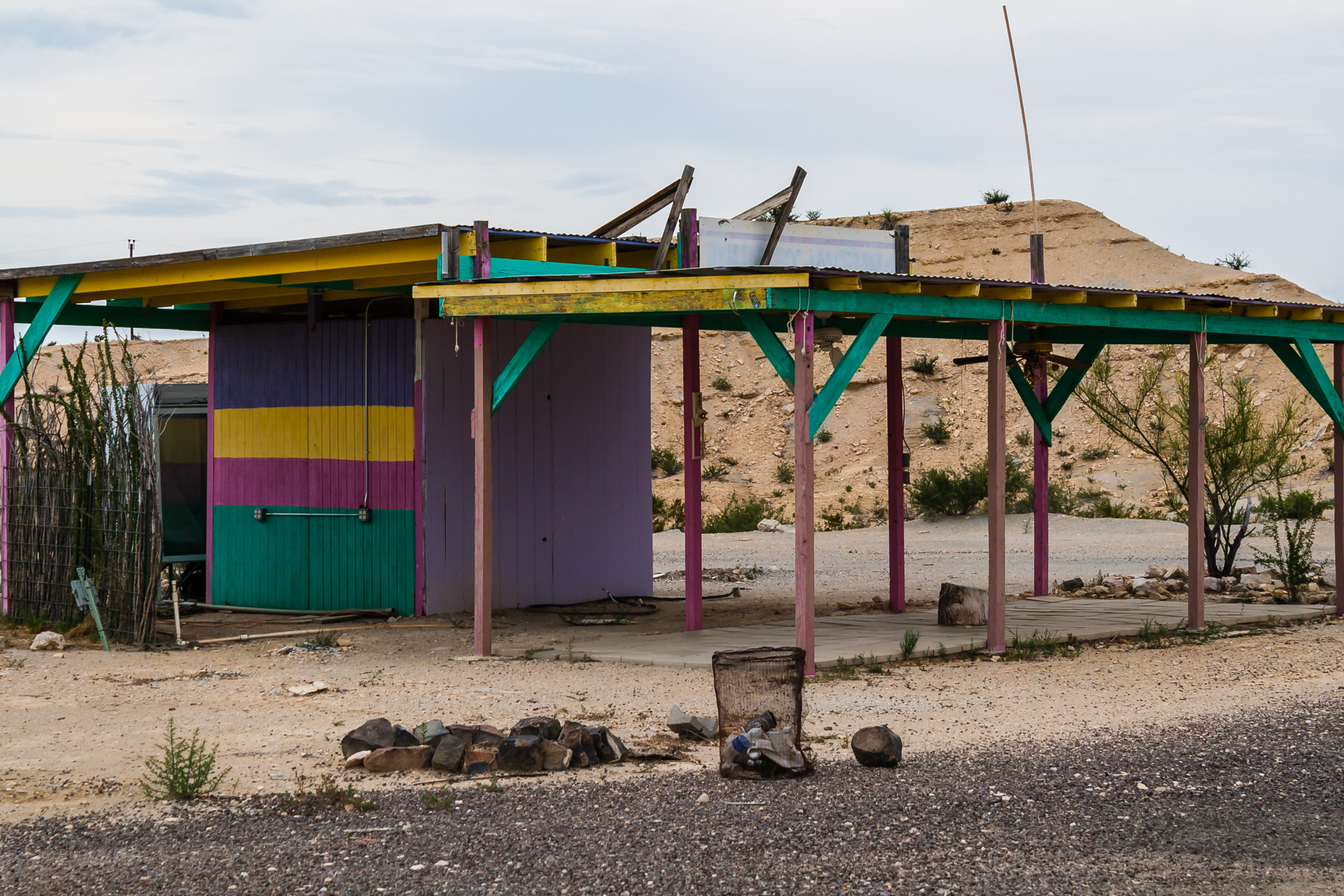 Colorful Desert Shack (left side close)