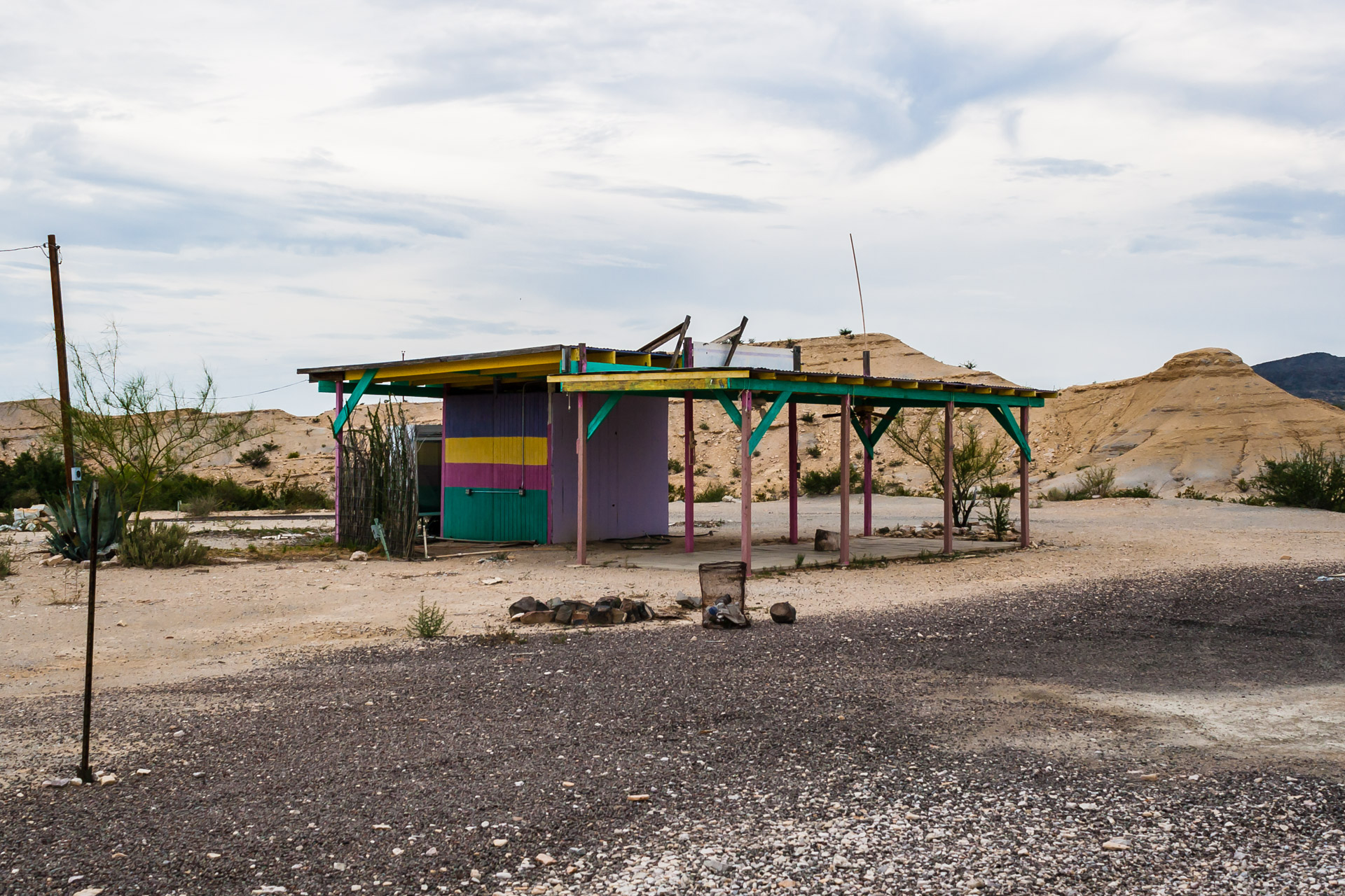 Colorful Desert Shack (left side far)