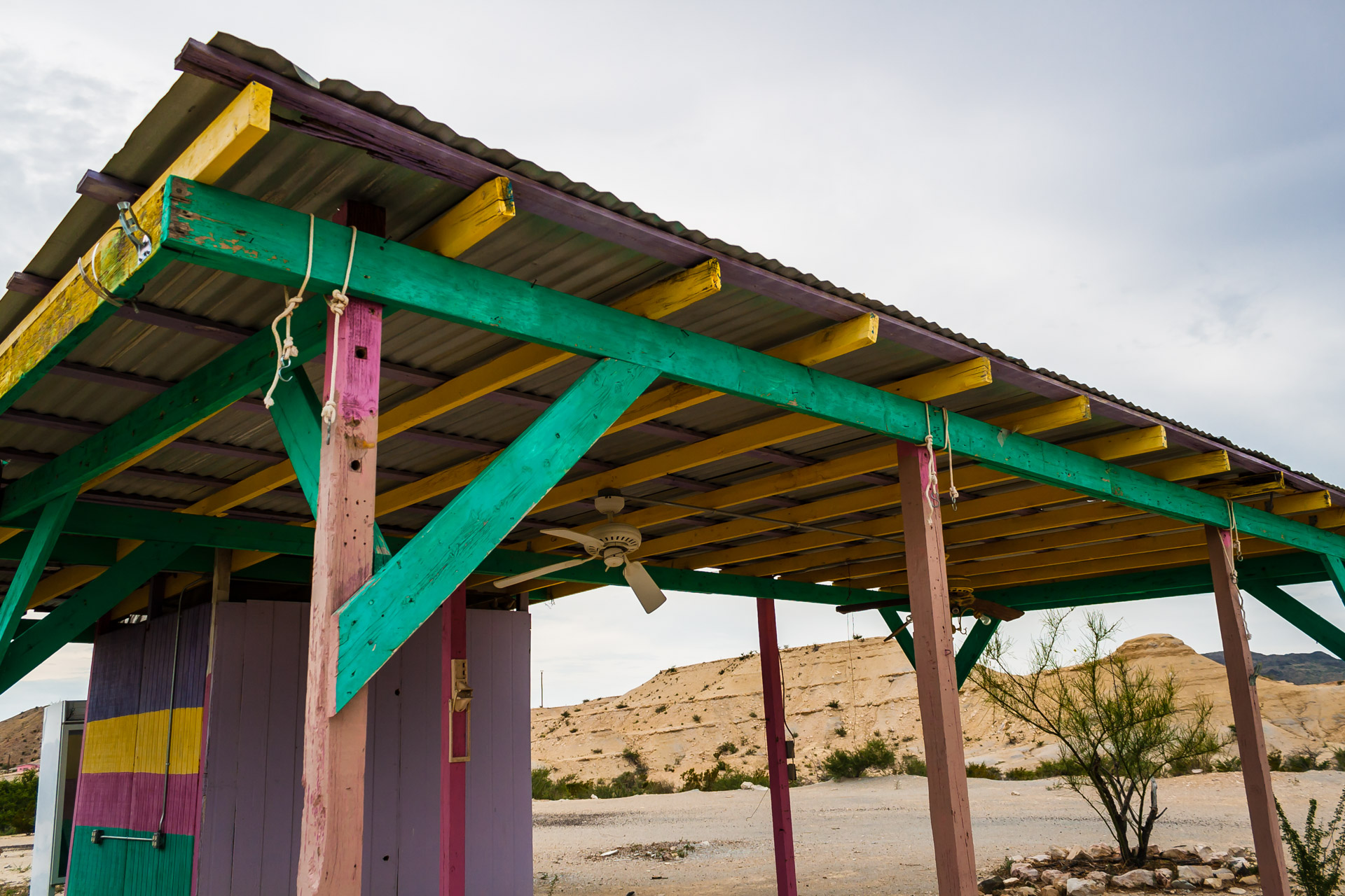 Colorful Desert Shack (roof close)