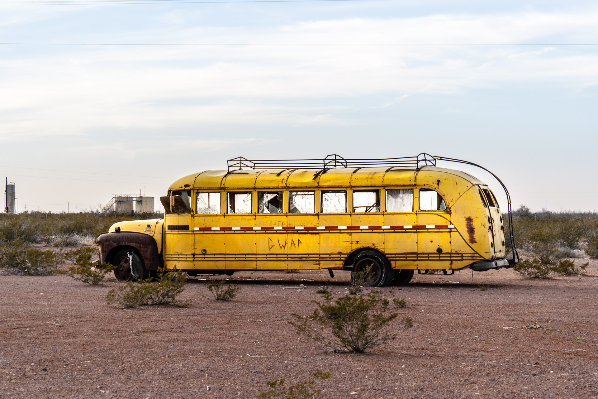 Deserted School Bus-Angle Close