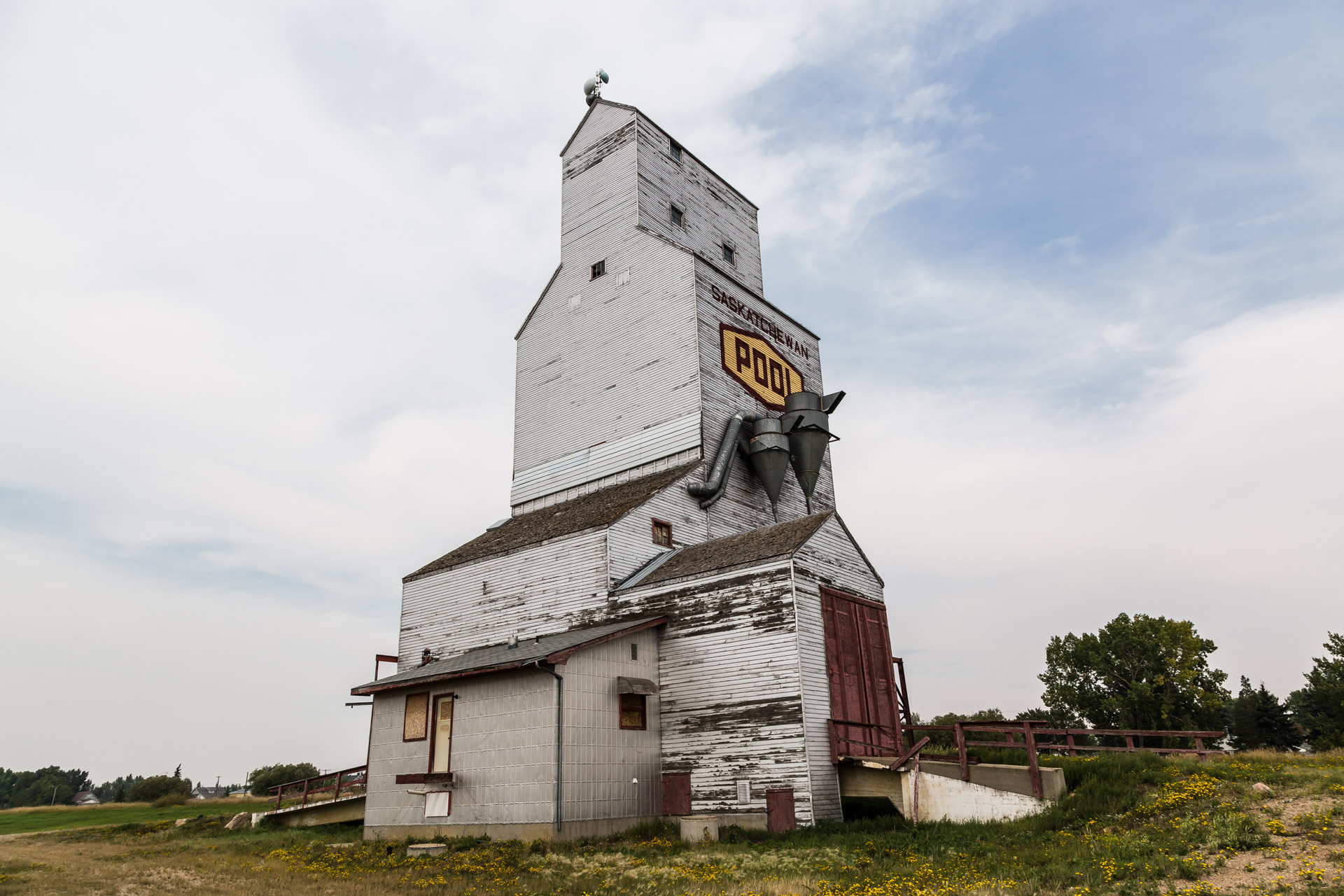 Grain Elevator In Town (angle up)