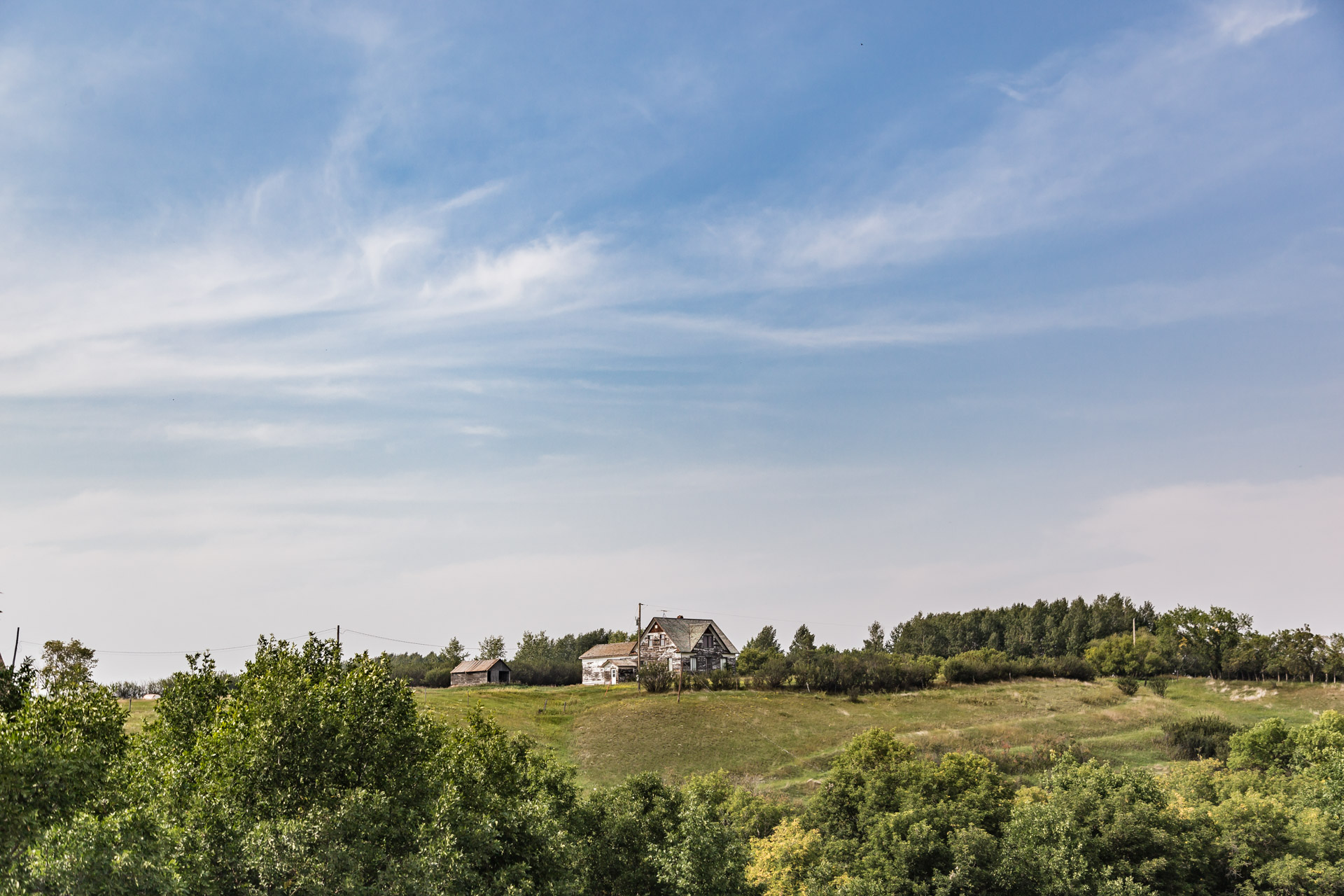 Elbow, Saskatchewan, Canada - Hilltop Farmhouse