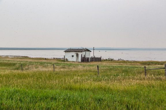 Morse, Saskatchewan, Canada - Lakeside Shack
