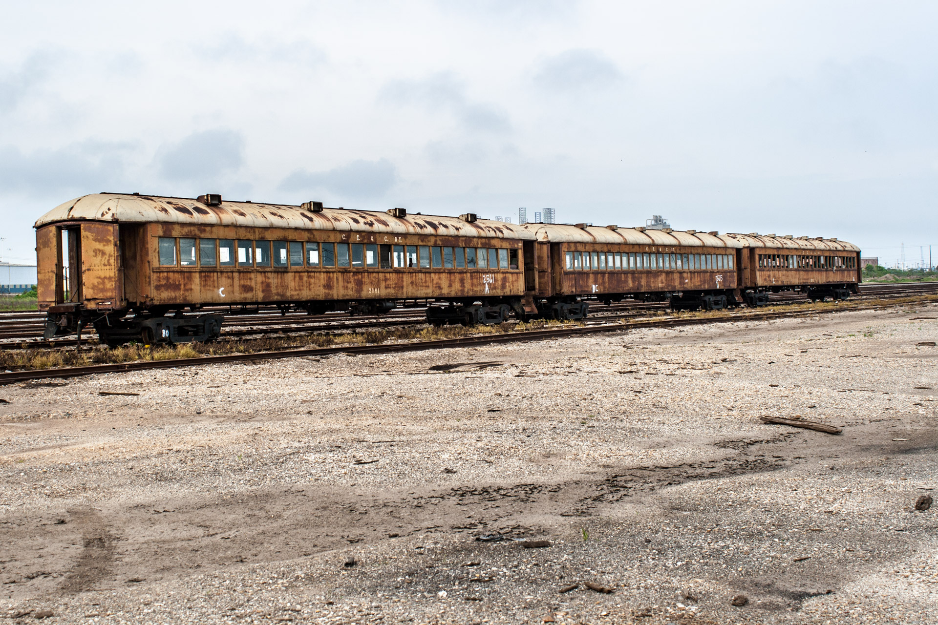 Galveston, Texas - Last Stop Passenger Train Car (side full)