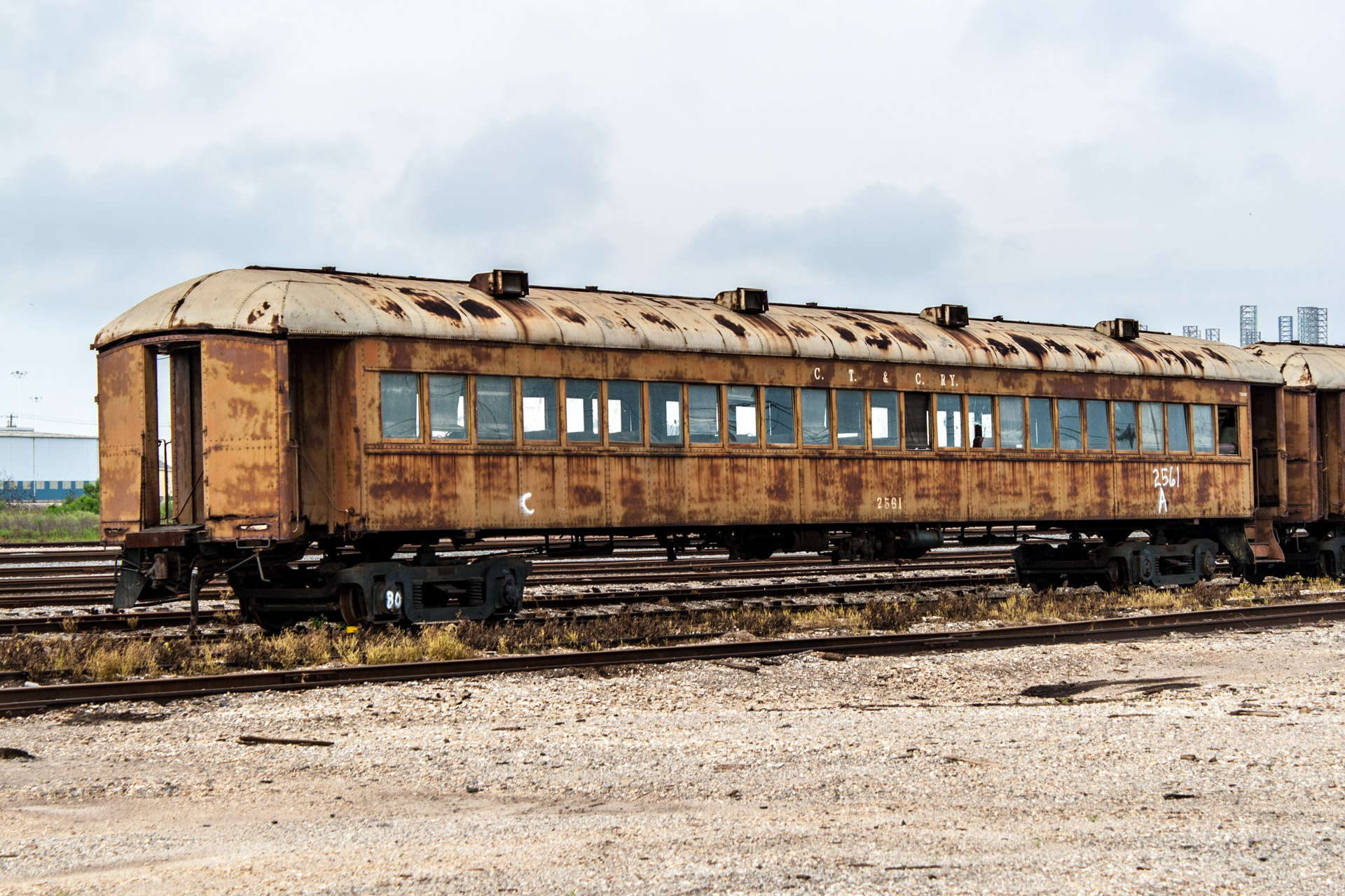 Galveston, Texas - Last Stop Passenger Train Car (side left)