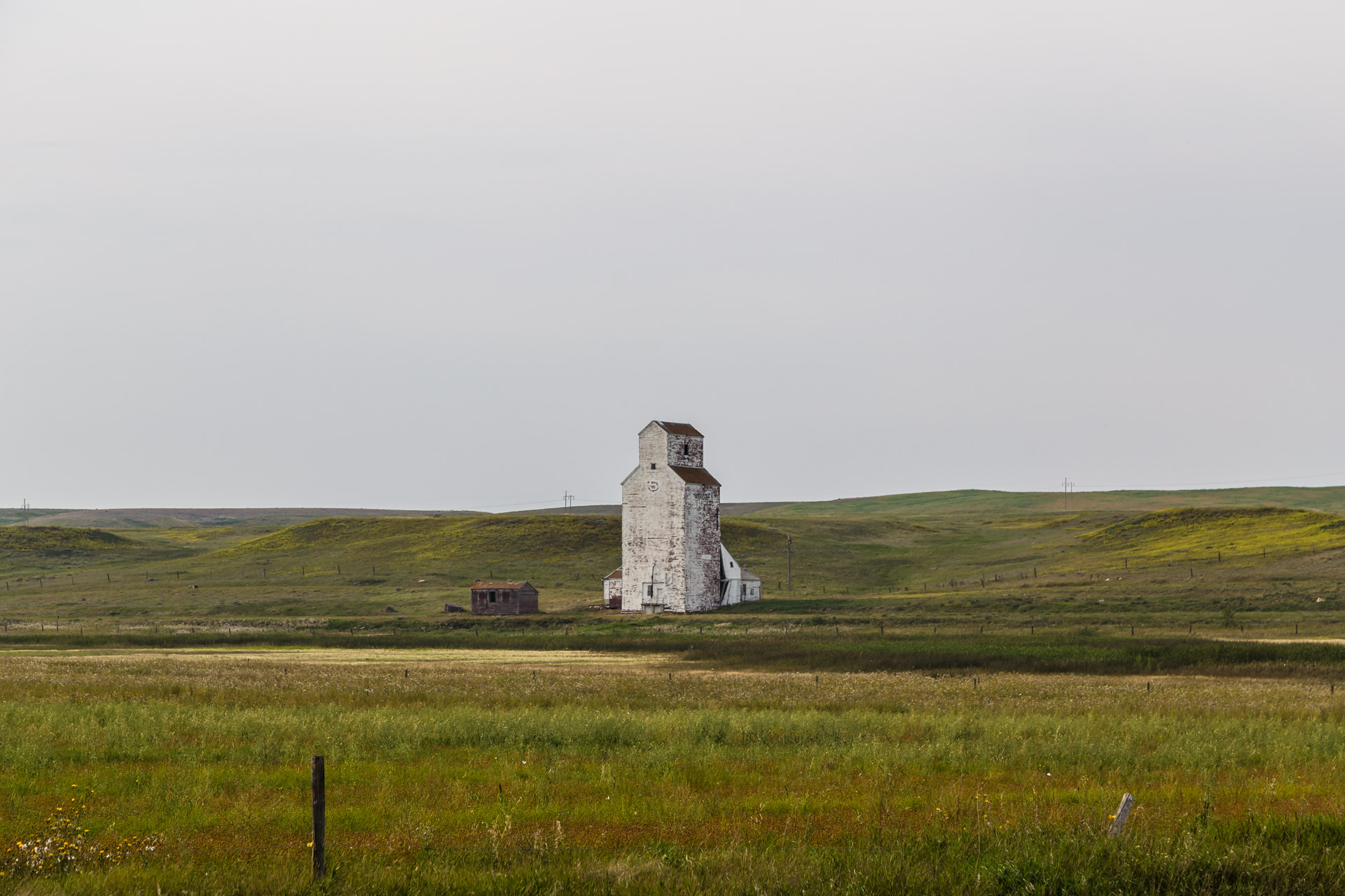 Central Butte, Saskatchewan, Canada - Lonely Grain Elevator