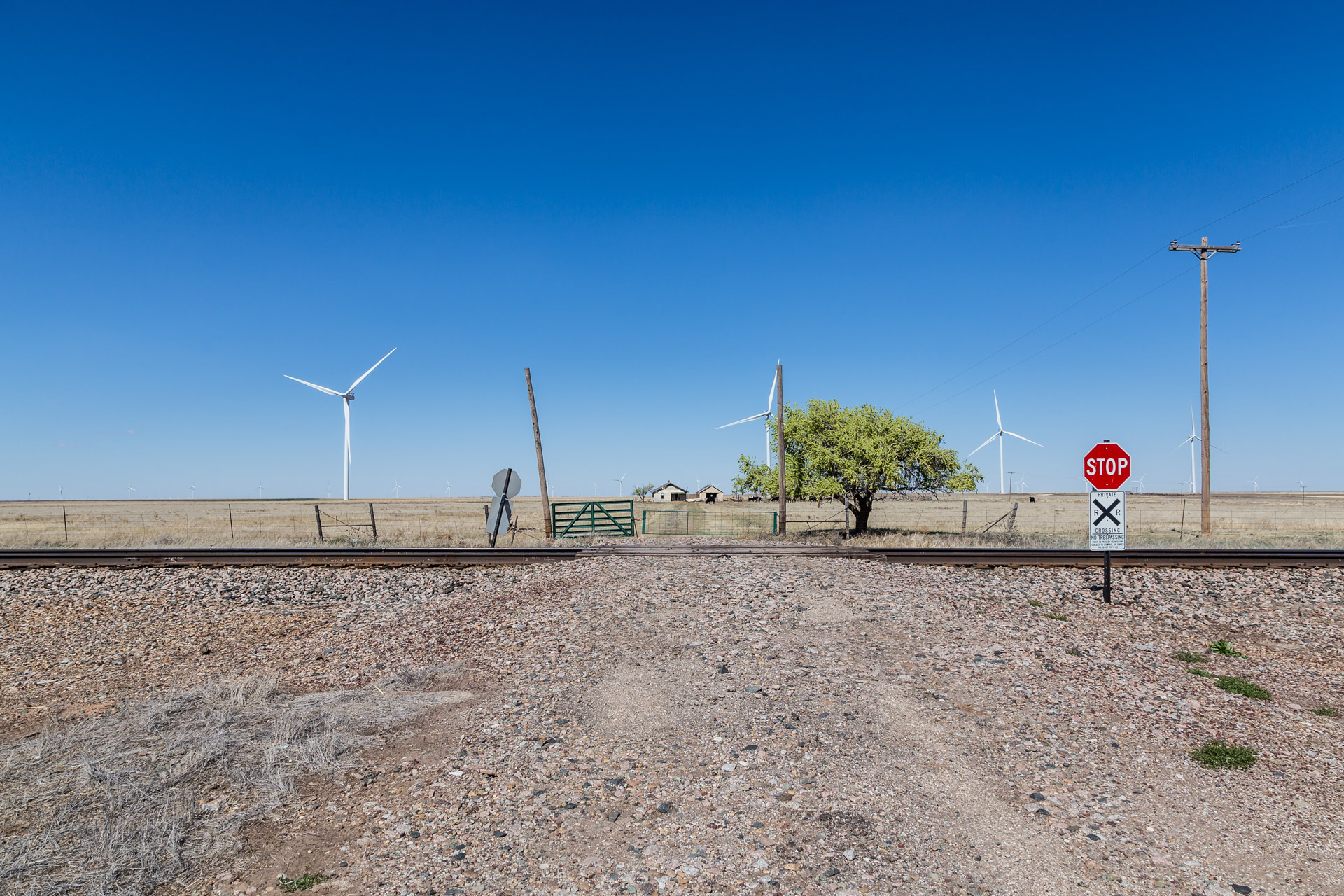 Railroad Tracks and Wind Turbines (far tracks)