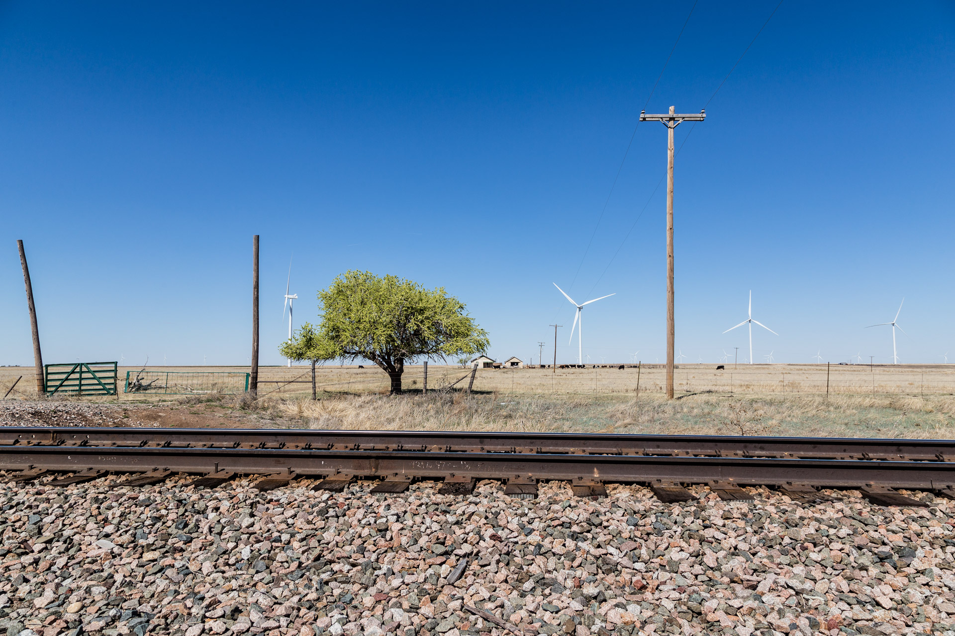 Railroad Tracks and Wind Turbines (far tracks 1)