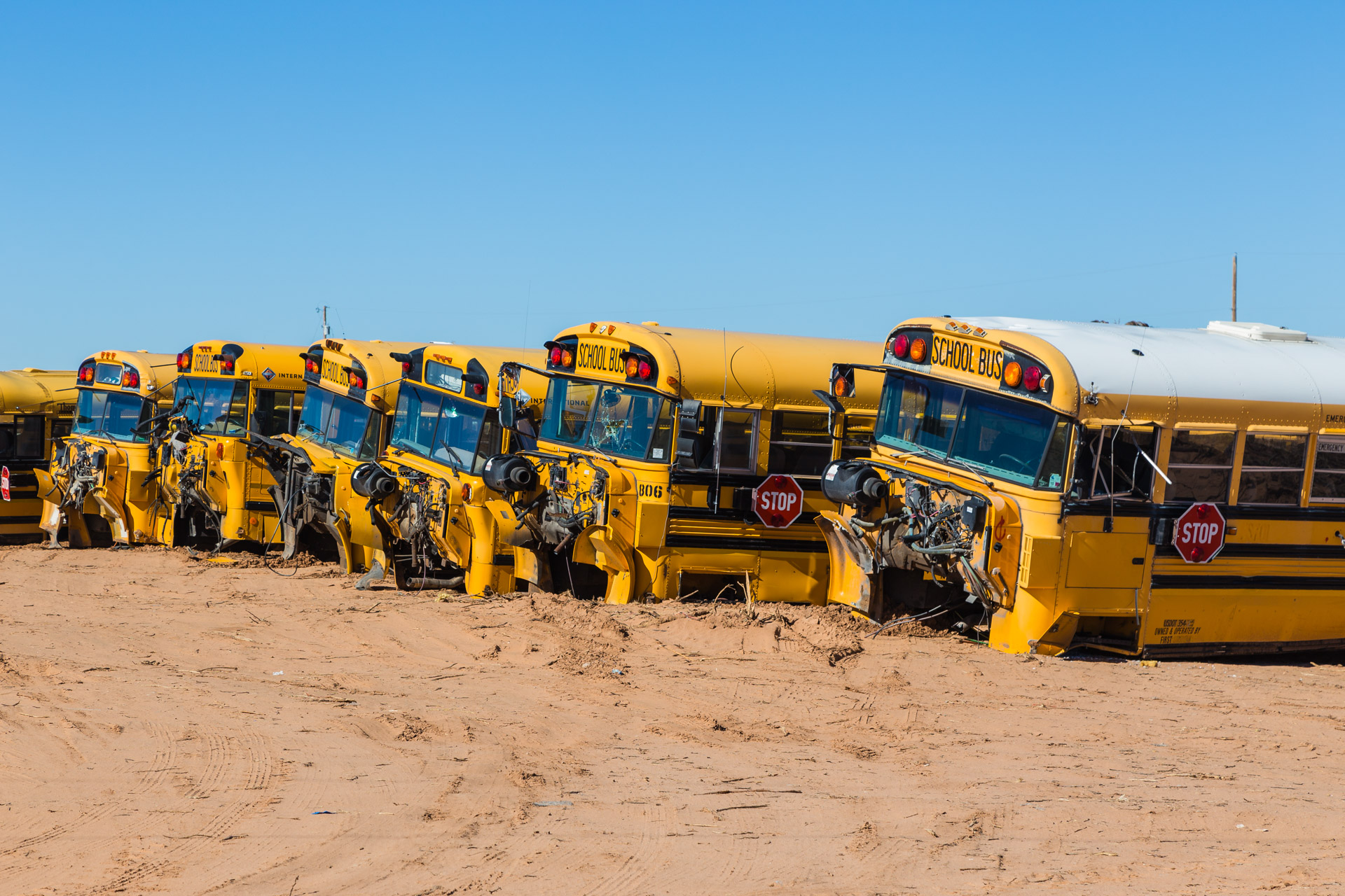 Cloudcroft, New Mexico - School Bus Graveyard