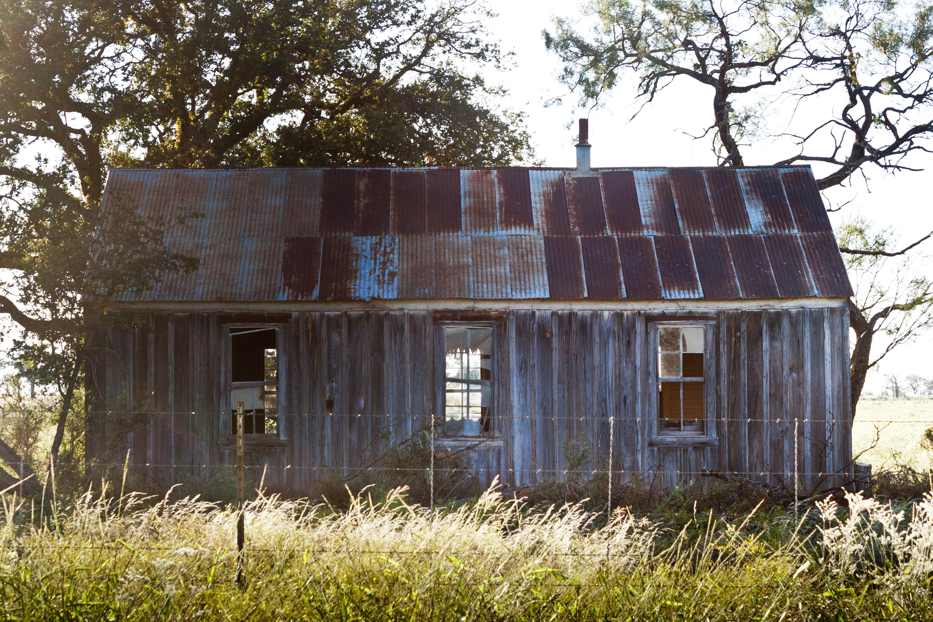 Mason County, Texas - The Broken Windows House (side close)