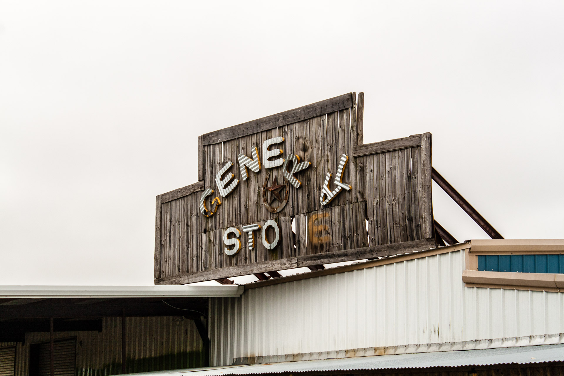 Taylor, Texas - The General Store Gas Station (close sign)