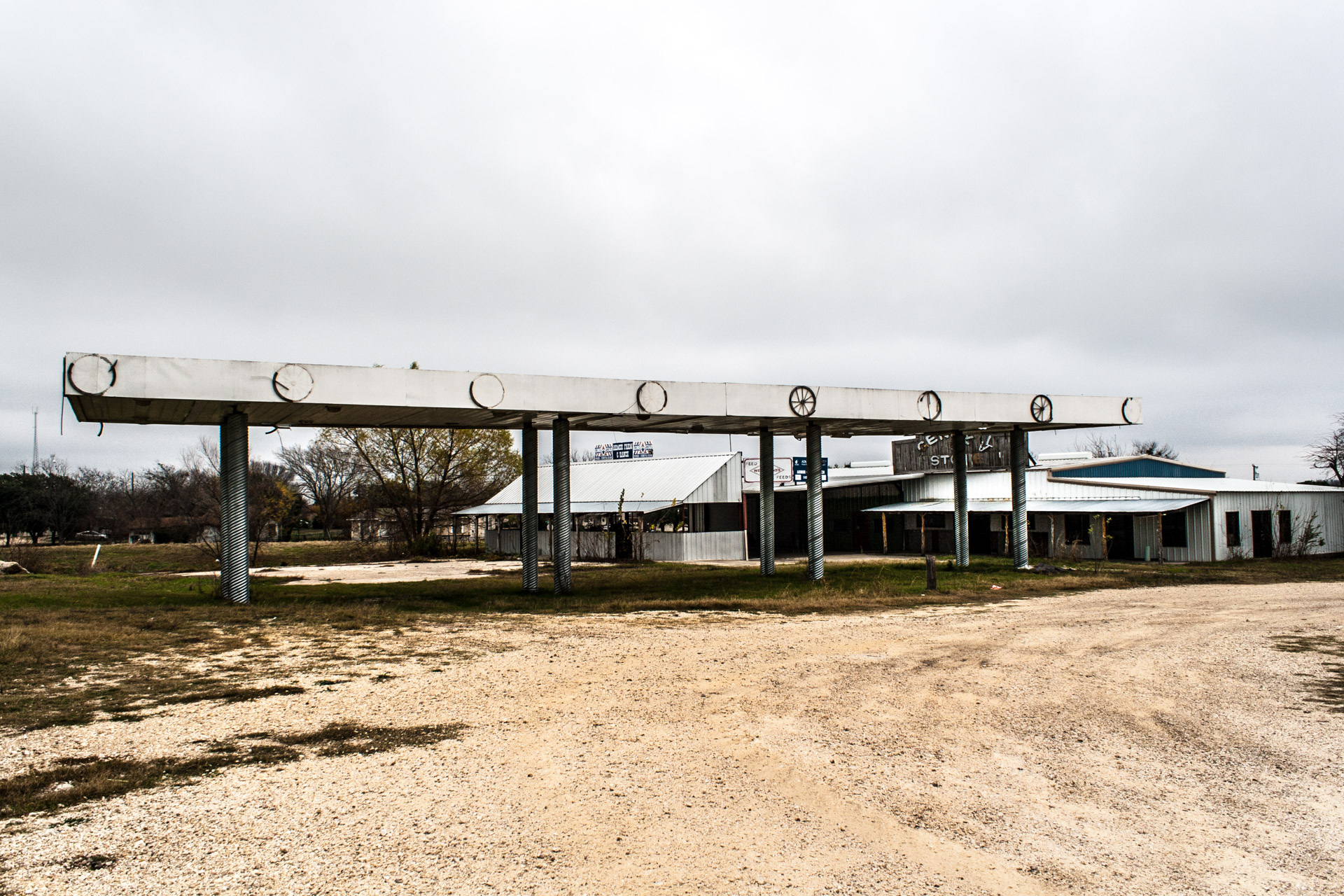 Taylor, Texas - The General Store Gas Station (far)