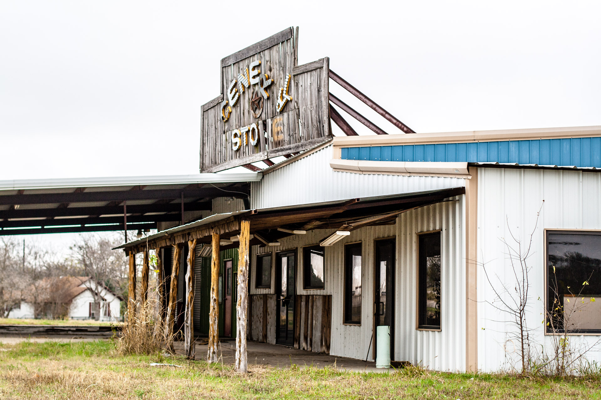Taylor, Texas - The General Store Gas Station (side sign)