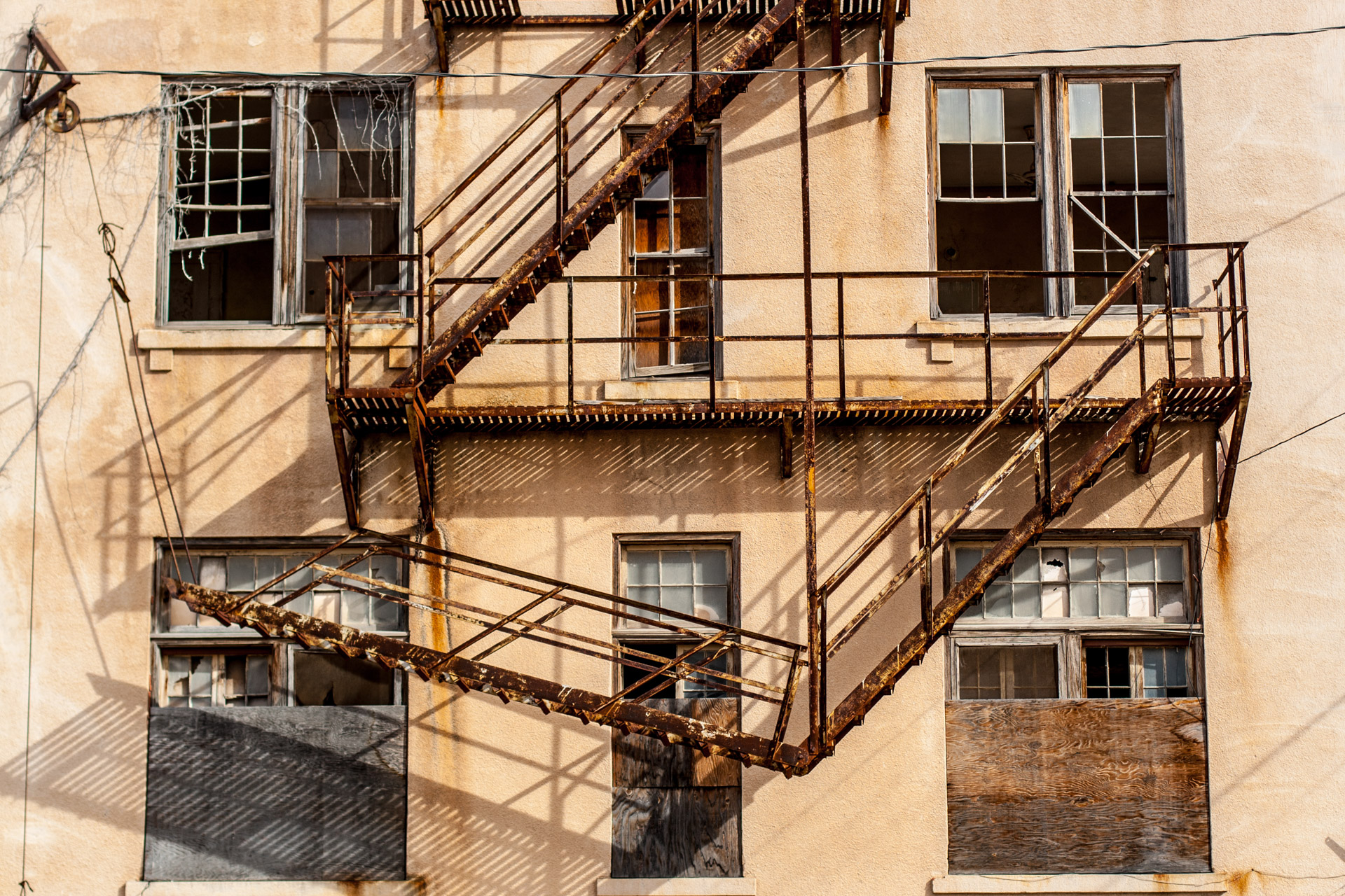 Ozona, Texas - The Hotel Ozona (back stairs)