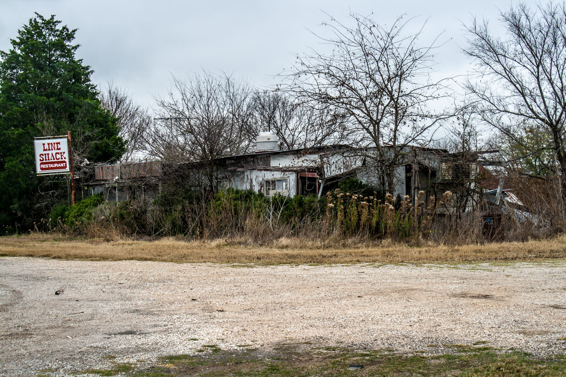 Buckholts, Texas - The Line Shack Restaurant (front mid)