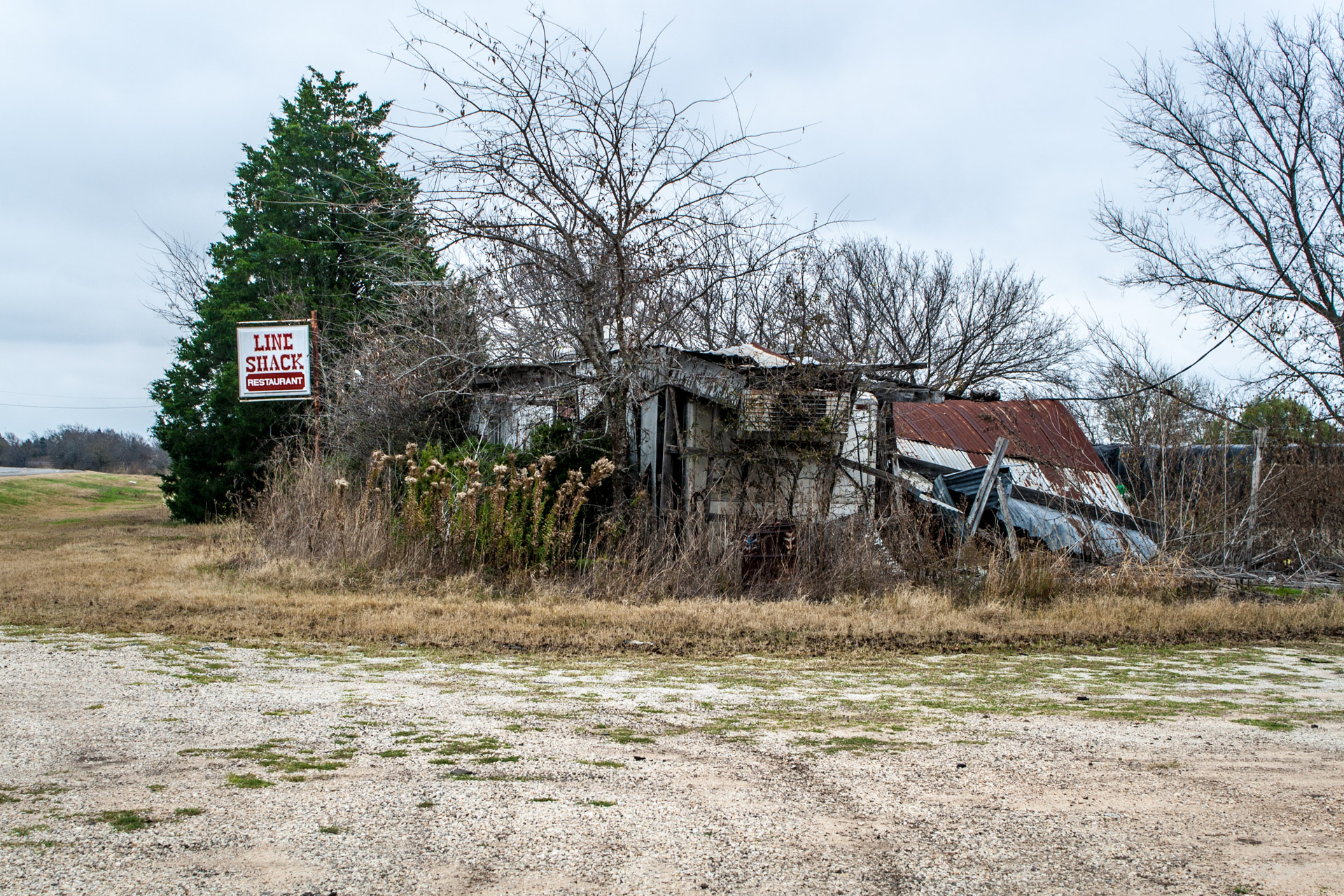 Buckholts, Texas - The Line Shack Restaurant (side mid)