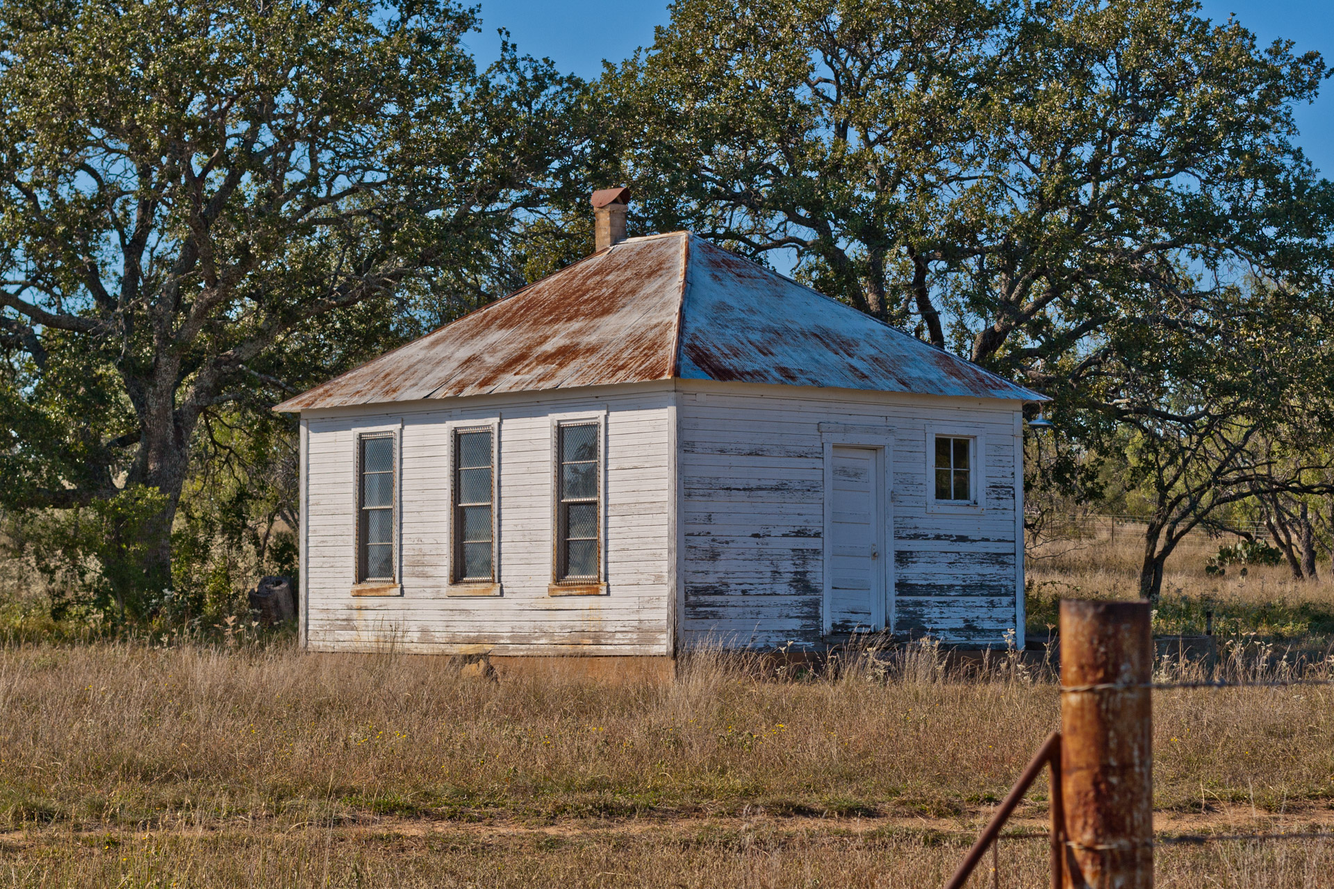 Fly Gap, Texas - The One-Room Schoolhouse (side close)