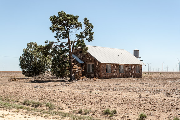 Loraine, Texas - Wind Turbine Community-Stone House
