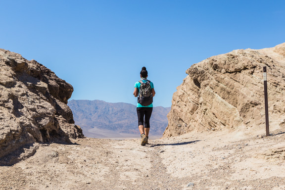 Hot Hike In Death Valley