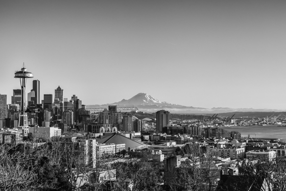 Seattle In Black And White